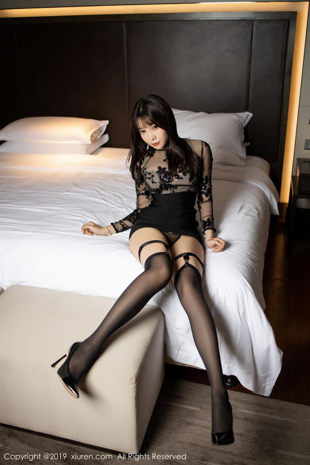 [XiuRen] Vol.1795 Chen Zhi 17P, Big Booty, Black Silk, Chen Zhi, Underwear, Xiuren