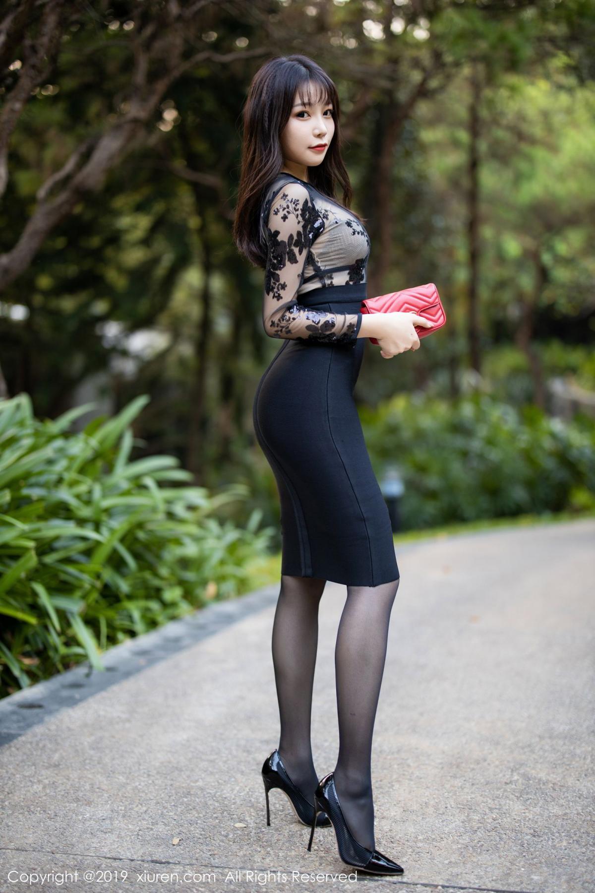 [XiuRen] Vol.1795 Chen Zhi 1P, Big Booty, Black Silk, Chen Zhi, Underwear, Xiuren