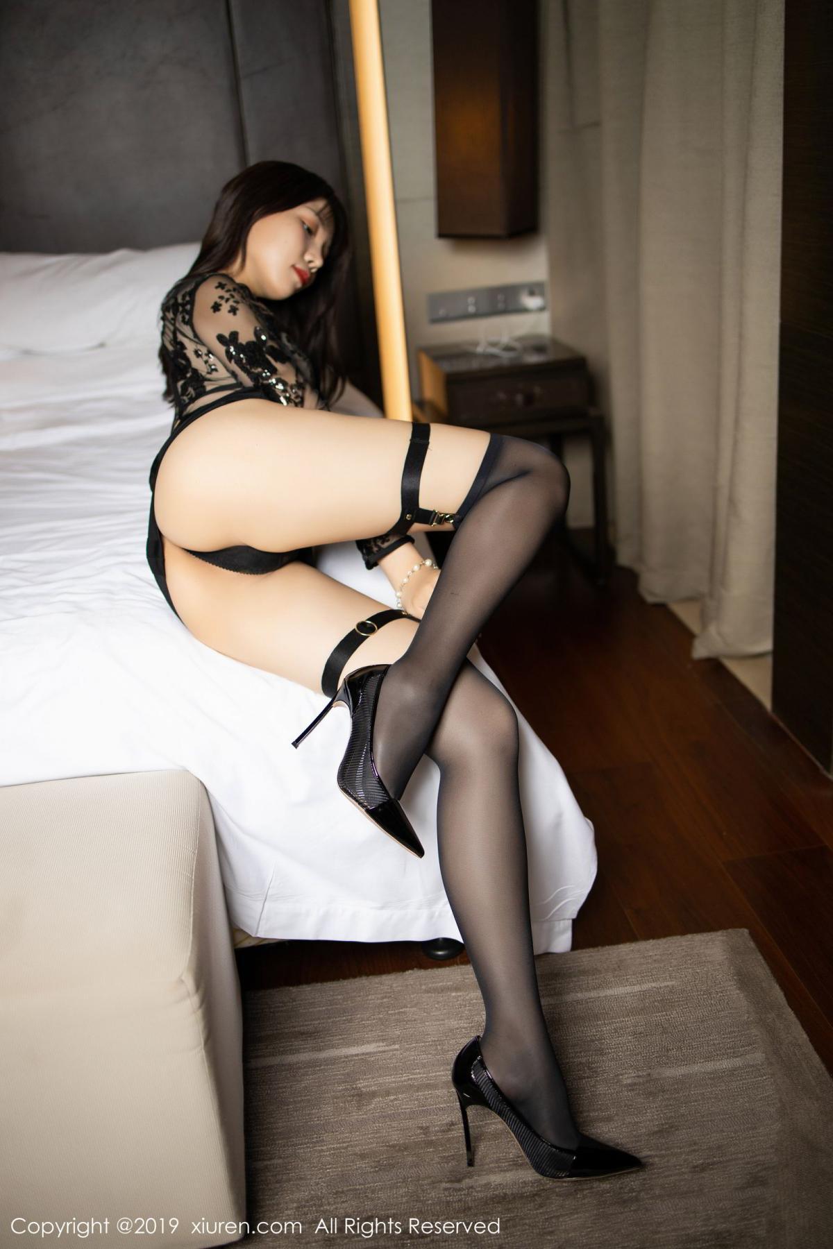 [XiuRen] Vol.1795 Chen Zhi 20P, Big Booty, Black Silk, Chen Zhi, Underwear, Xiuren