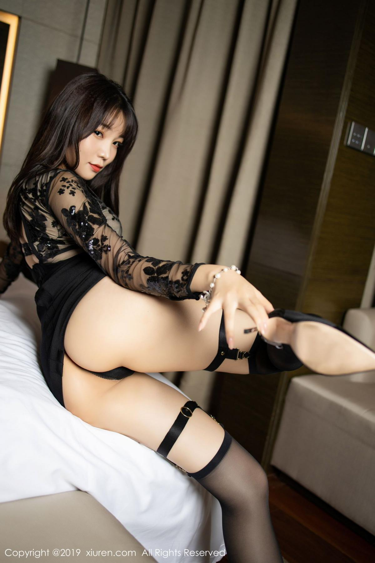 [XiuRen] Vol.1795 Chen Zhi 22P, Big Booty, Black Silk, Chen Zhi, Underwear, Xiuren