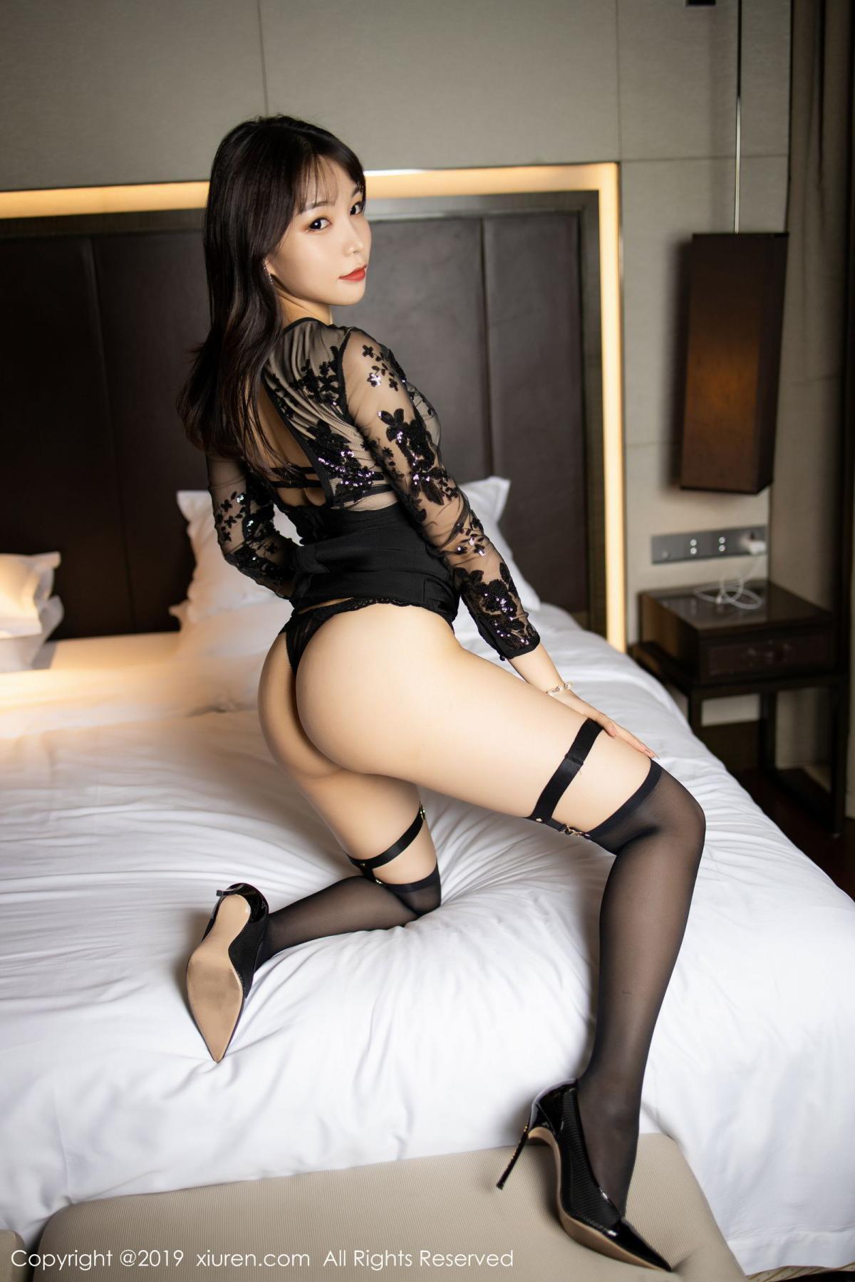 [XiuRen] Vol.1795 Chen Zhi 27P, Big Booty, Black Silk, Chen Zhi, Underwear, Xiuren