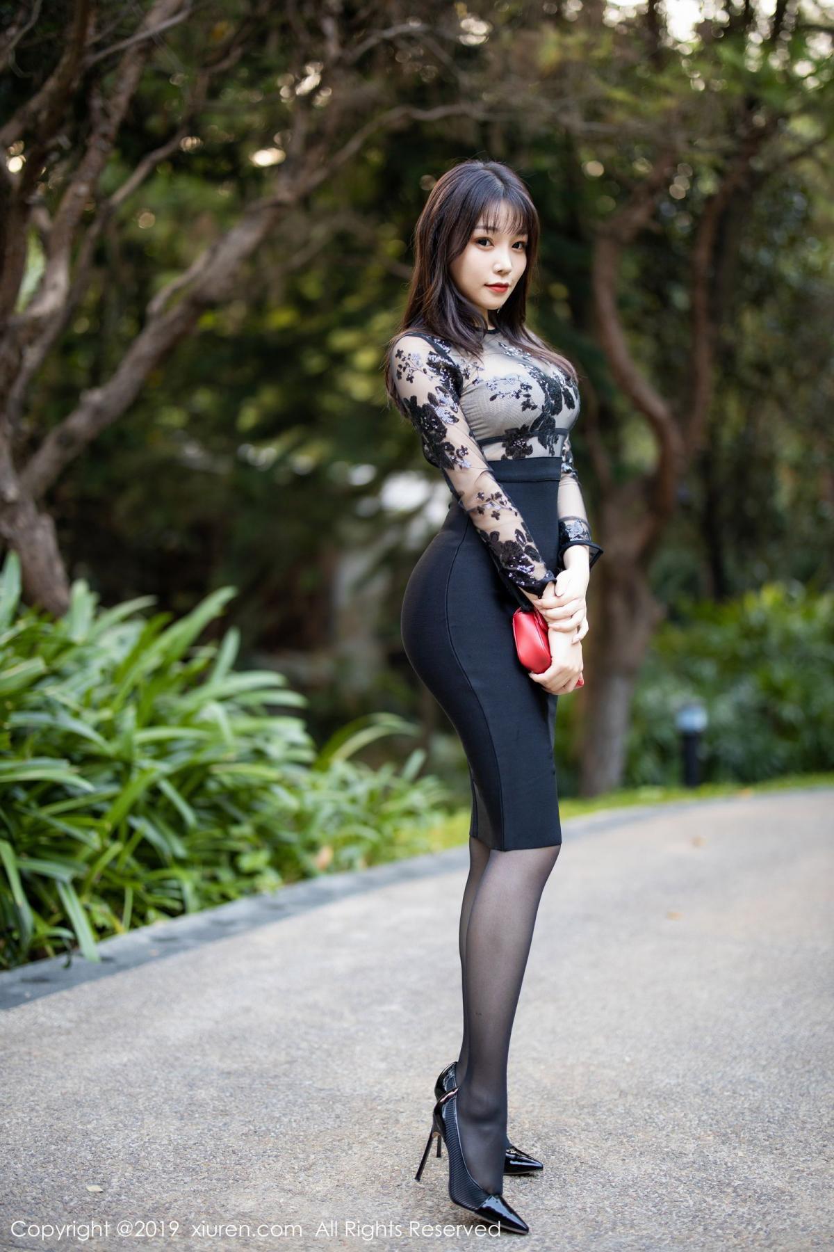 [XiuRen] Vol.1795 Chen Zhi 2P, Big Booty, Black Silk, Chen Zhi, Underwear, Xiuren