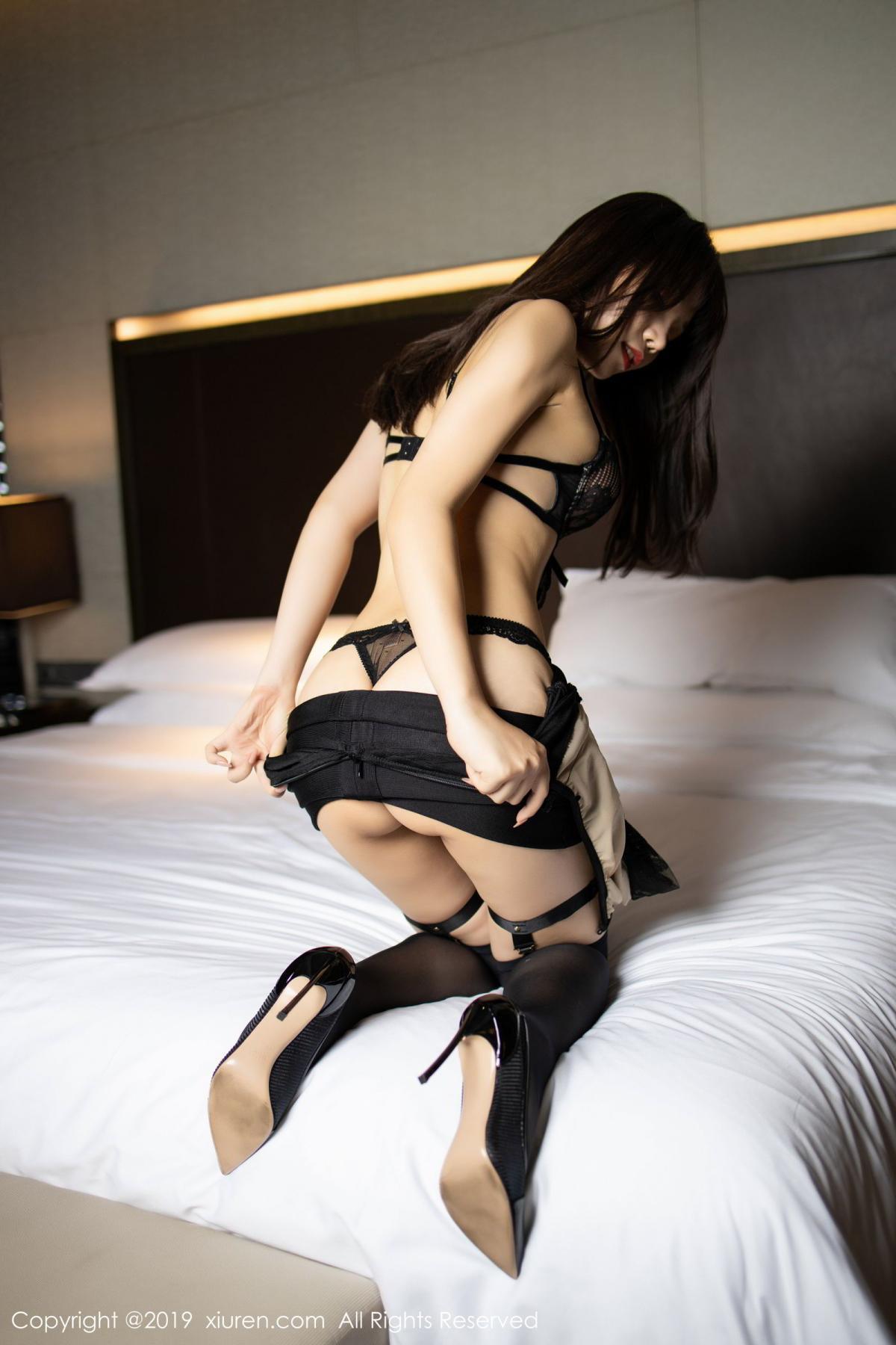 [XiuRen] Vol.1795 Chen Zhi 33P, Big Booty, Black Silk, Chen Zhi, Underwear, Xiuren