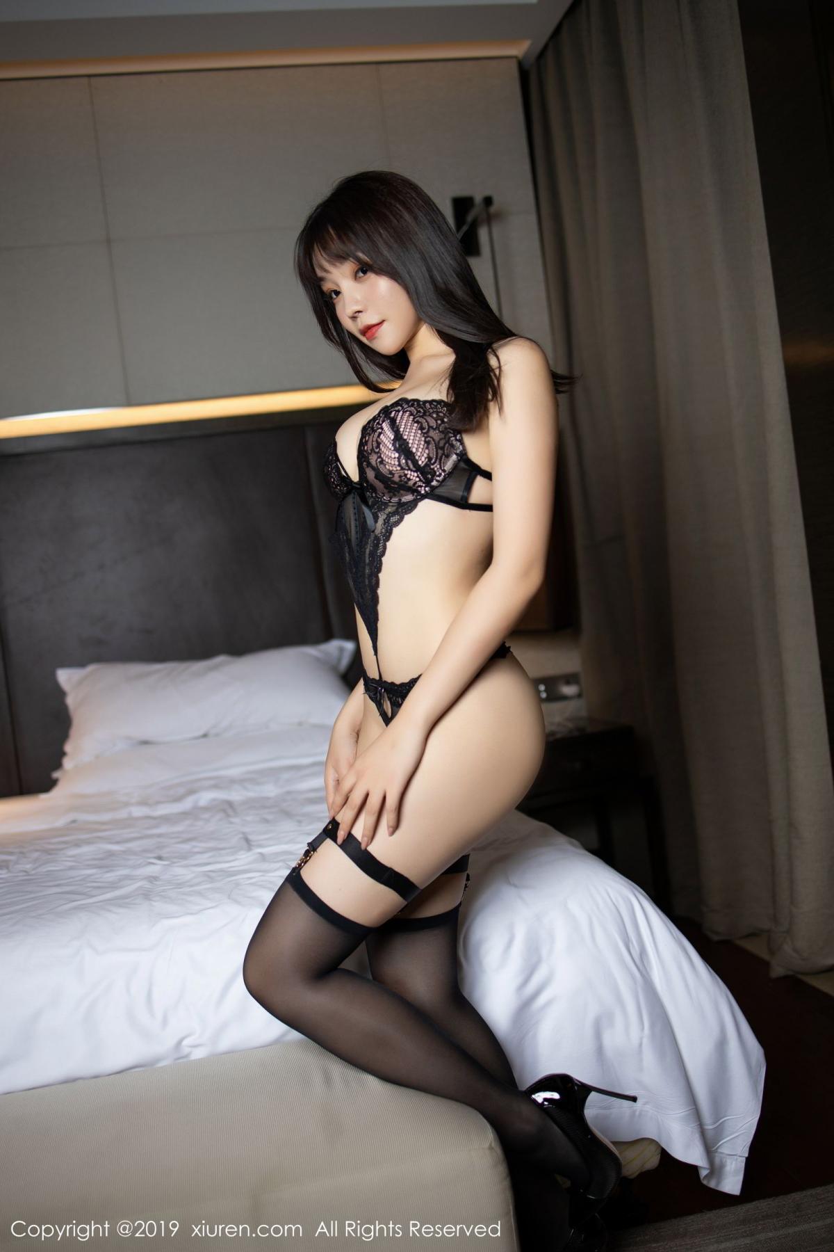 [XiuRen] Vol.1795 Chen Zhi 43P, Big Booty, Black Silk, Chen Zhi, Underwear, Xiuren