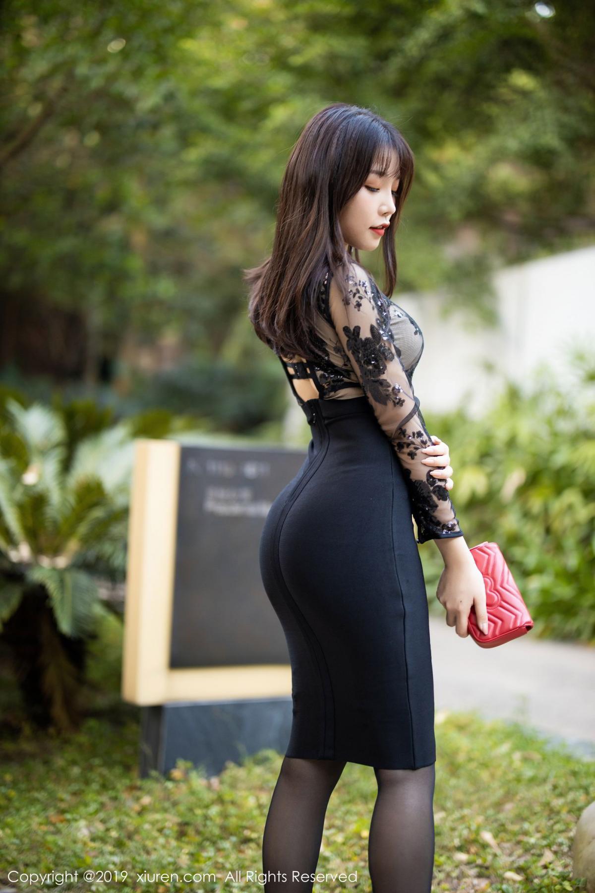 [XiuRen] Vol.1795 Chen Zhi 4P, Big Booty, Black Silk, Chen Zhi, Underwear, Xiuren