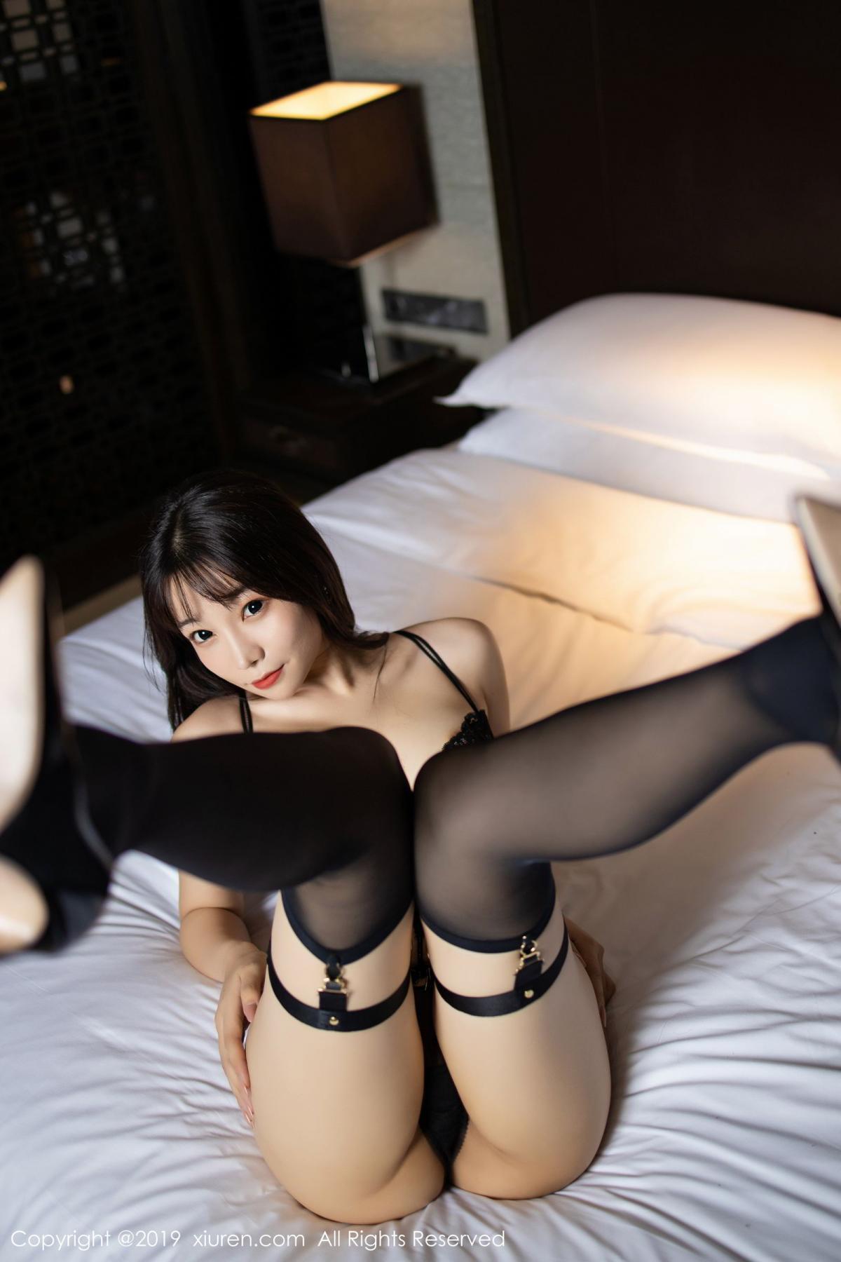 [XiuRen] Vol.1795 Chen Zhi 51P, Big Booty, Black Silk, Chen Zhi, Underwear, Xiuren