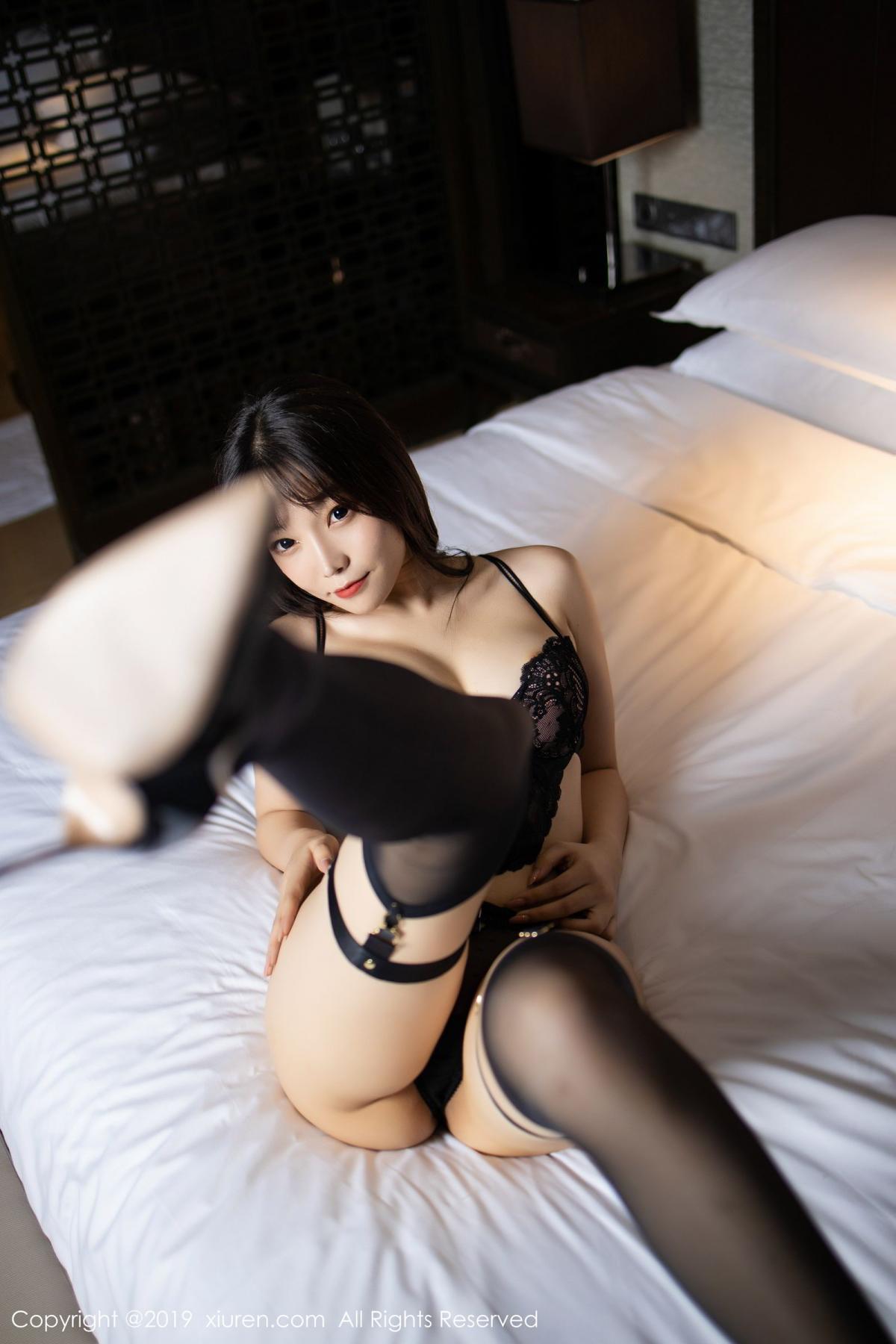 [XiuRen] Vol.1795 Chen Zhi 53P, Big Booty, Black Silk, Chen Zhi, Underwear, Xiuren