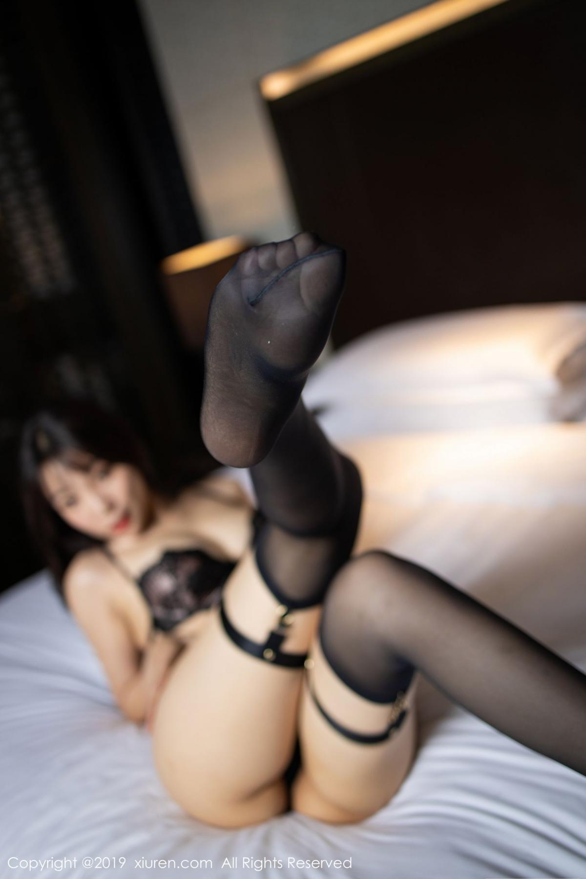 [XiuRen] Vol.1795 Chen Zhi 54P, Big Booty, Black Silk, Chen Zhi, Underwear, Xiuren