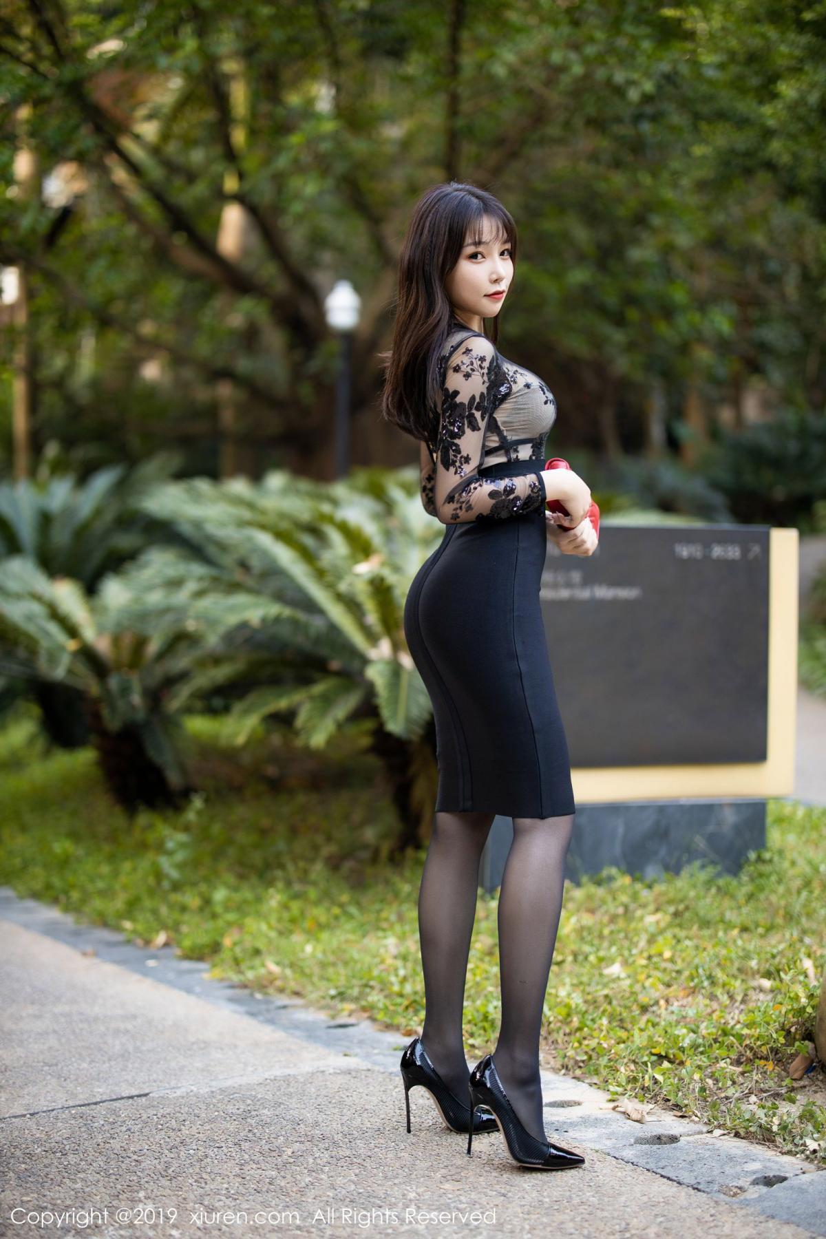 [XiuRen] Vol.1795 Chen Zhi 5P, Big Booty, Black Silk, Chen Zhi, Underwear, Xiuren