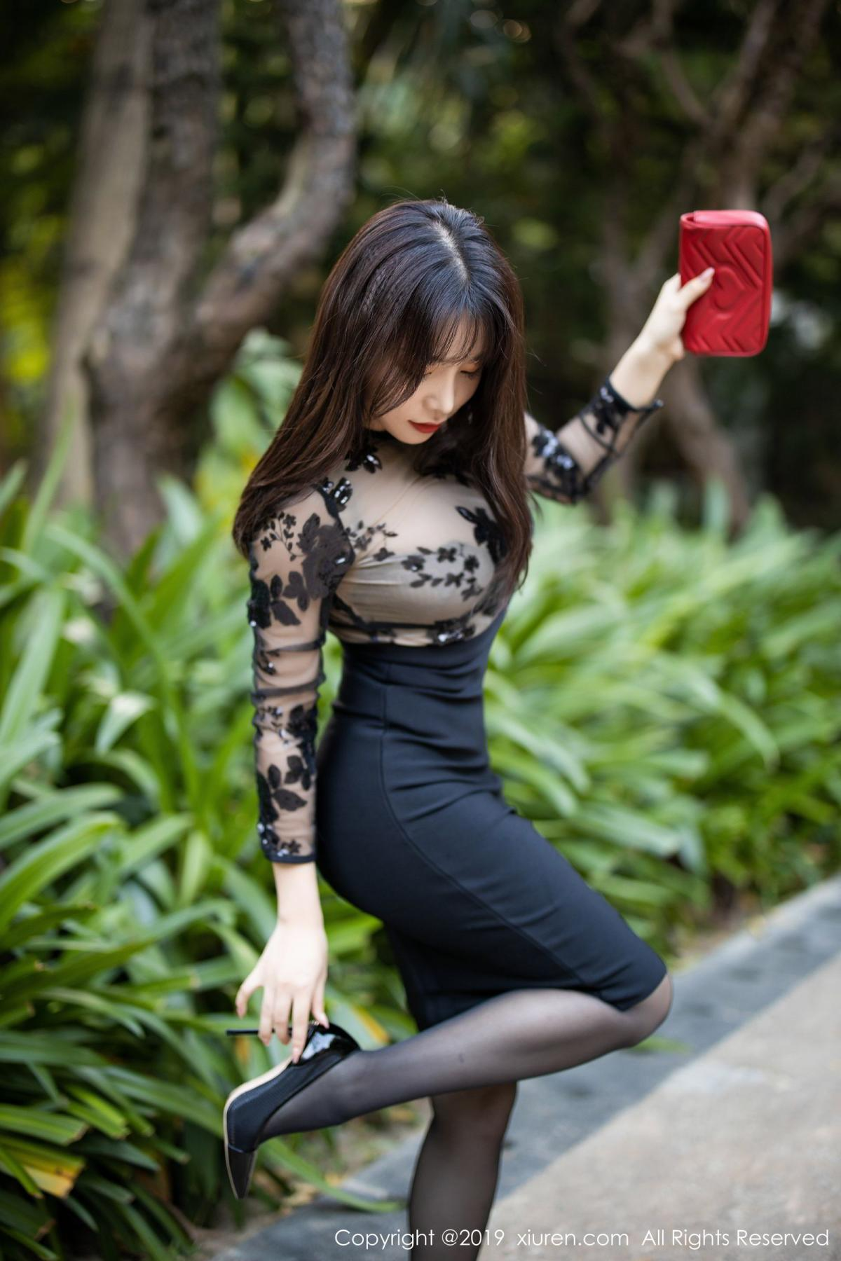 [XiuRen] Vol.1795 Chen Zhi 9P, Big Booty, Black Silk, Chen Zhi, Underwear, Xiuren