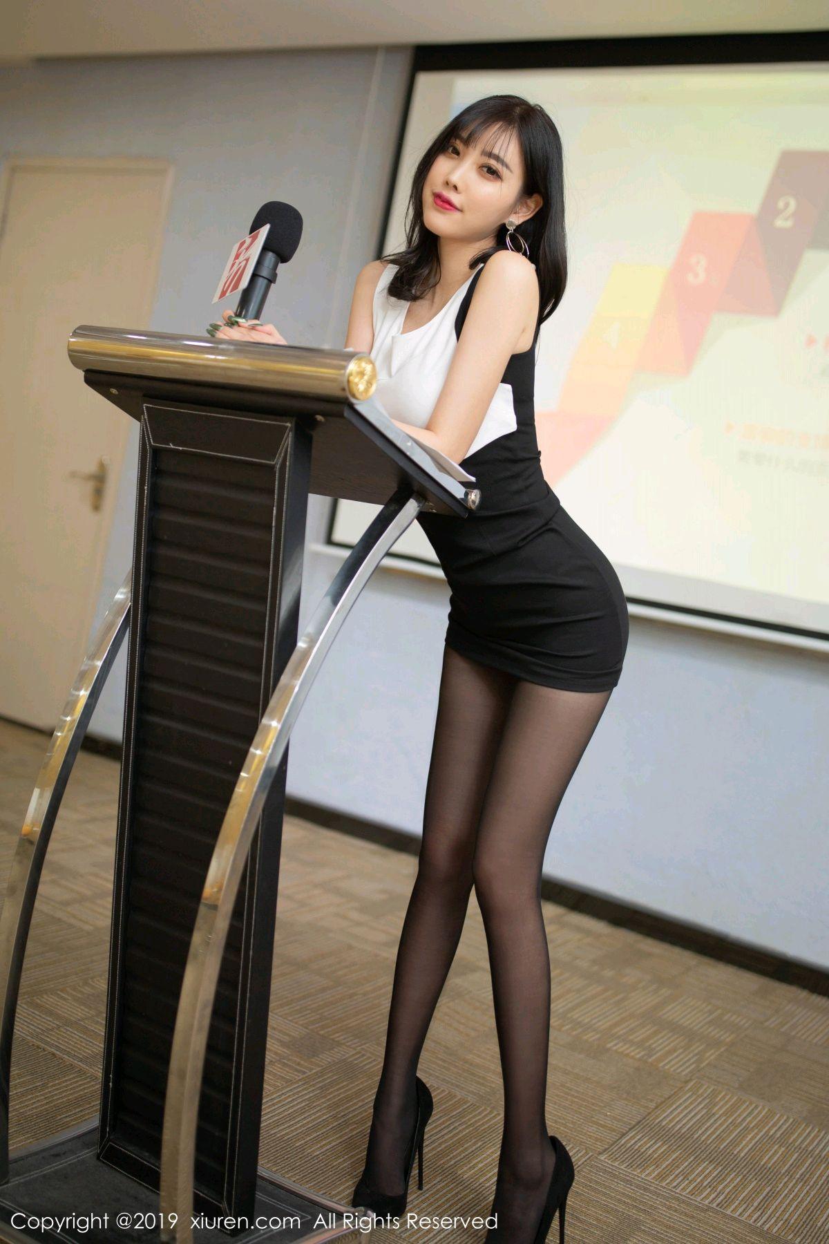 [XiuRen] Vol.1803 Yang Chen Chen 27P, Black Silk, Uniform, Xiuren, Yang Chen Chen
