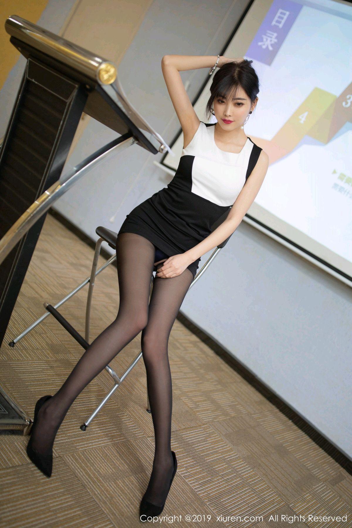 [XiuRen] Vol.1803 Yang Chen Chen 29P, Black Silk, Uniform, Xiuren, Yang Chen Chen