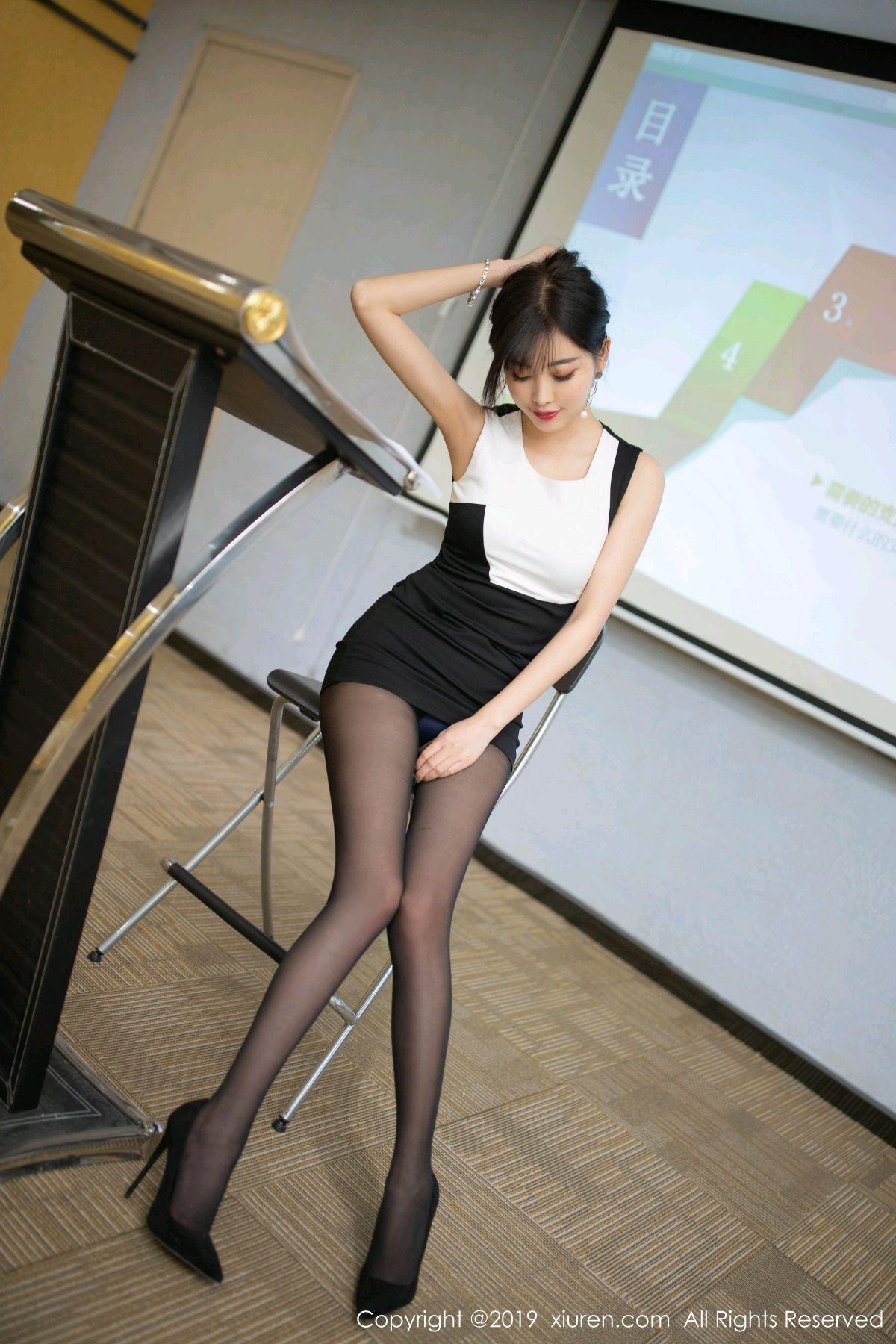 [XiuRen] Vol.1803 Yang Chen Chen 30P, Black Silk, Uniform, Xiuren, Yang Chen Chen