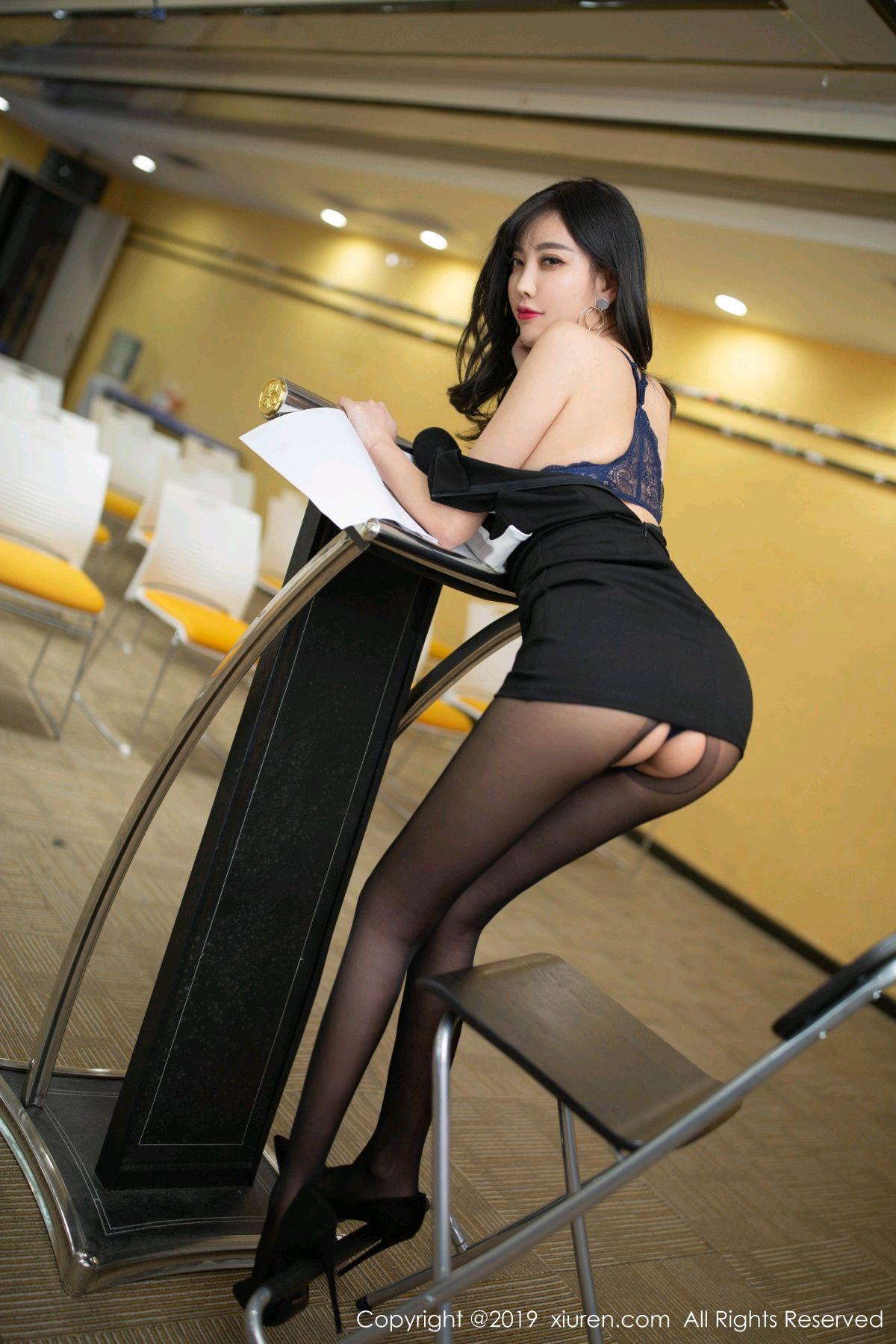 [XiuRen] Vol.1803 Yang Chen Chen 42P, Black Silk, Uniform, Xiuren, Yang Chen Chen