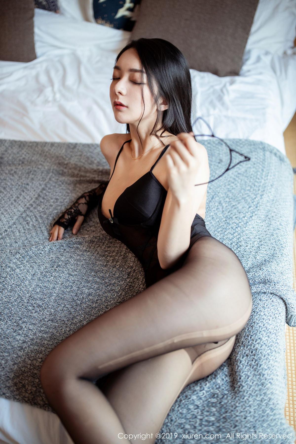 [XiuRen] Vol.1808 Di Yi 10P, Black Silk, Di Yi, Underwear, Xiuren