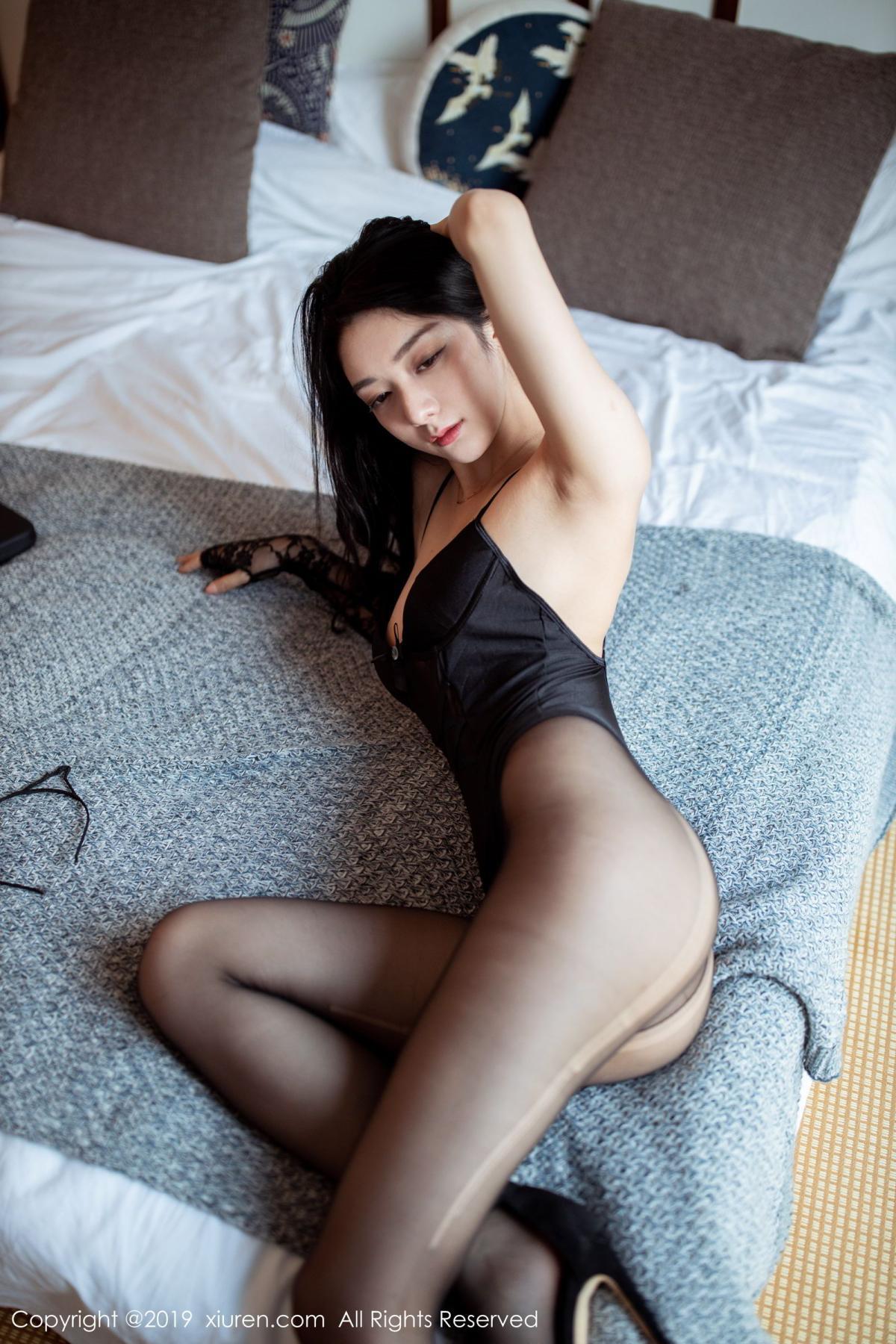 [XiuRen] Vol.1808 Di Yi 12P, Black Silk, Di Yi, Underwear, Xiuren