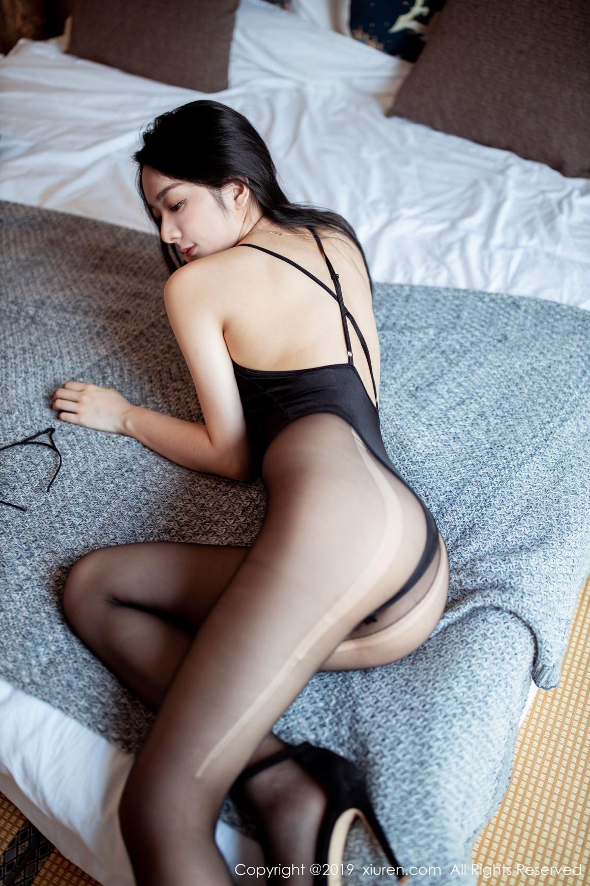[XiuRen] Vol.1808 Di Yi 13P, Black Silk, Di Yi, Underwear, Xiuren