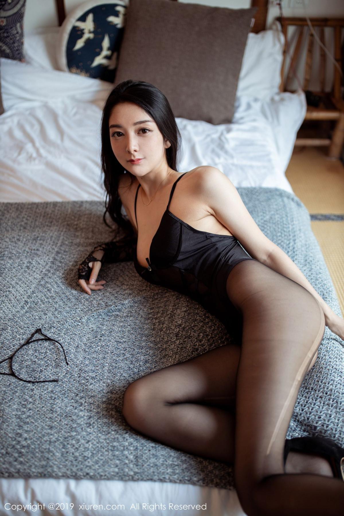 [XiuRen] Vol.1808 Di Yi 14P, Black Silk, Di Yi, Underwear, Xiuren