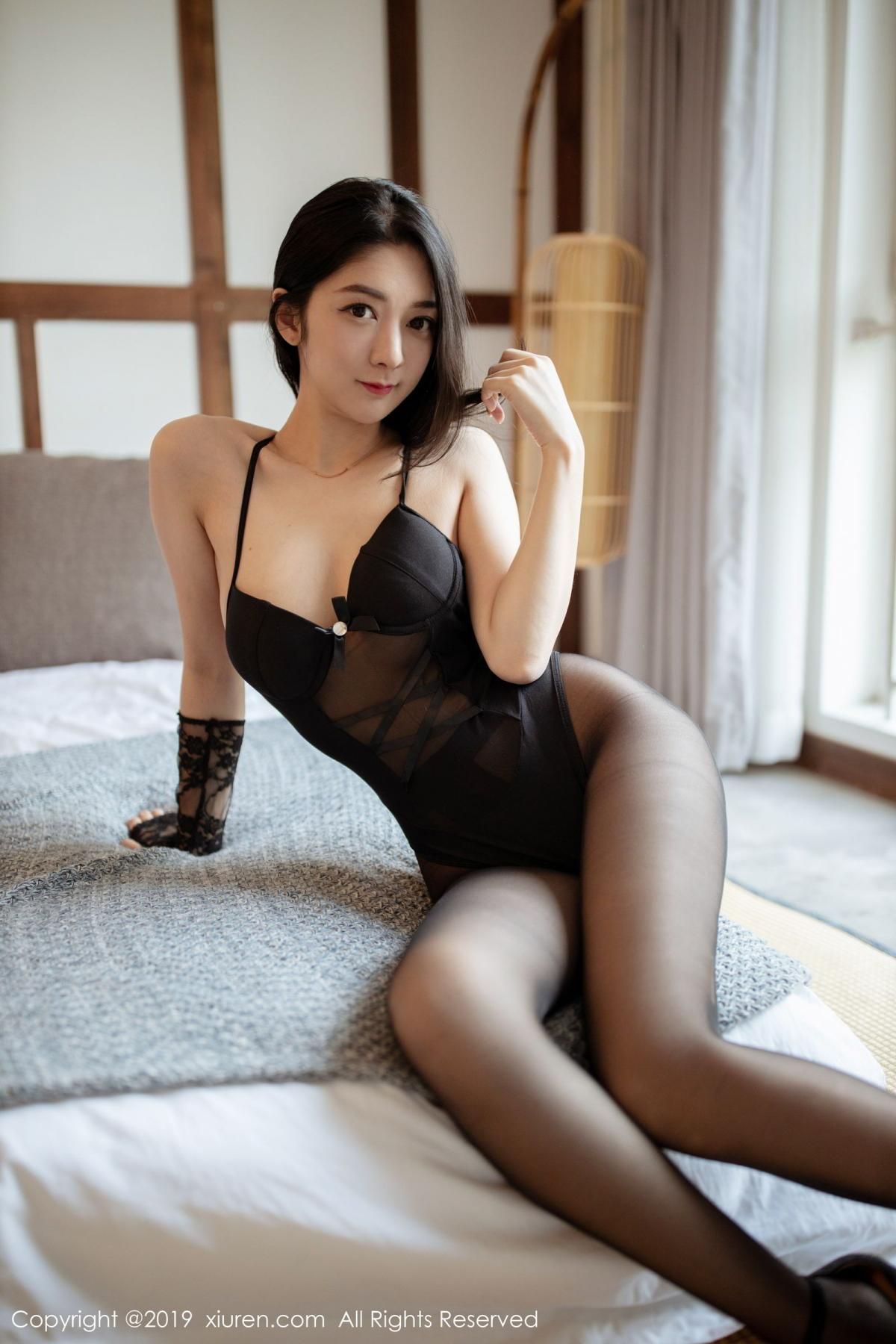 [XiuRen] Vol.1808 Di Yi 15P, Black Silk, Di Yi, Underwear, Xiuren