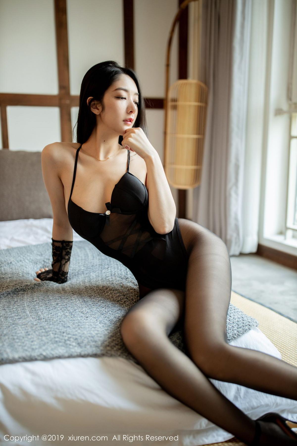 [XiuRen] Vol.1808 Di Yi 16P, Black Silk, Di Yi, Underwear, Xiuren