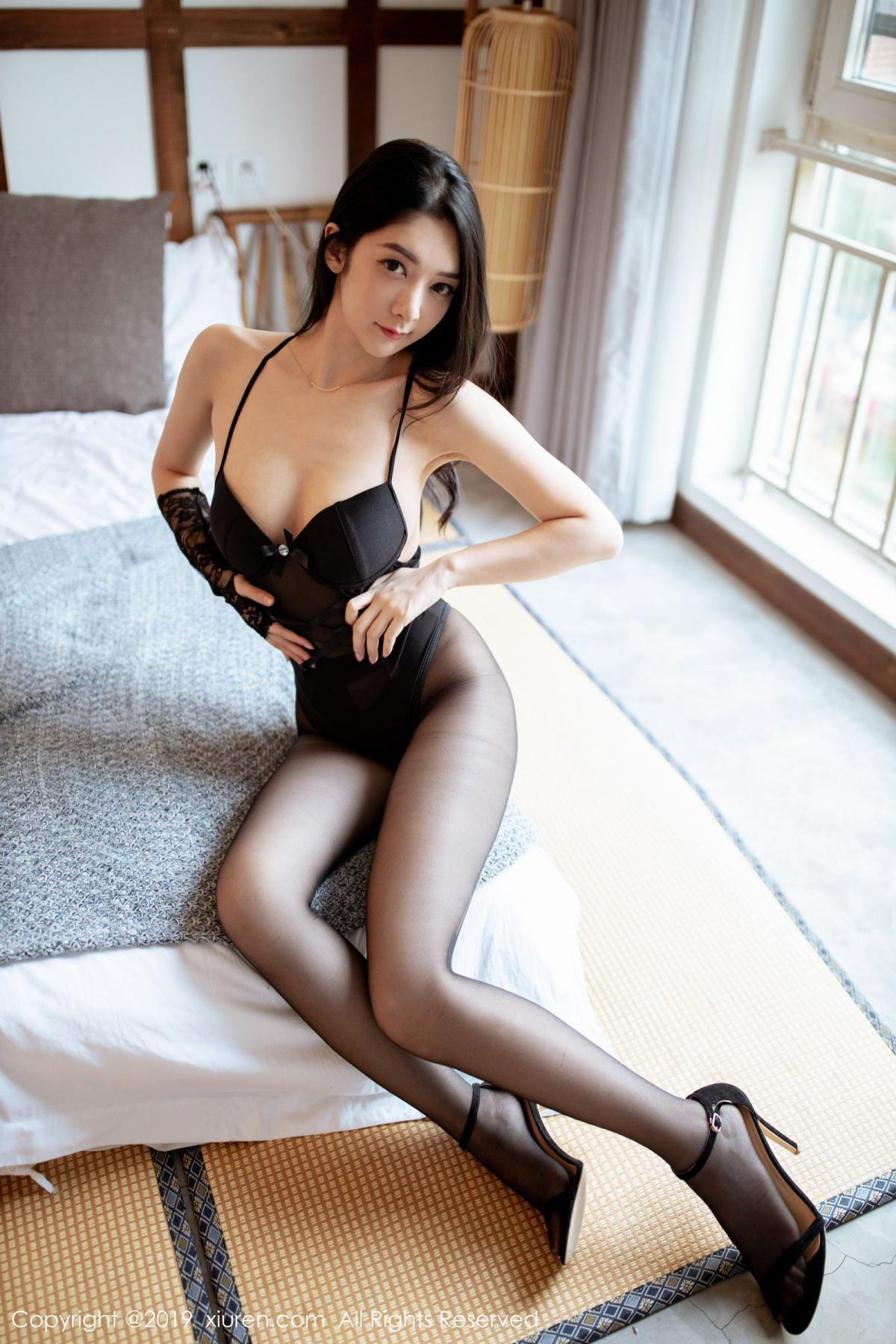 [XiuRen] Vol.1808 Di Yi 17P, Black Silk, Di Yi, Underwear, Xiuren