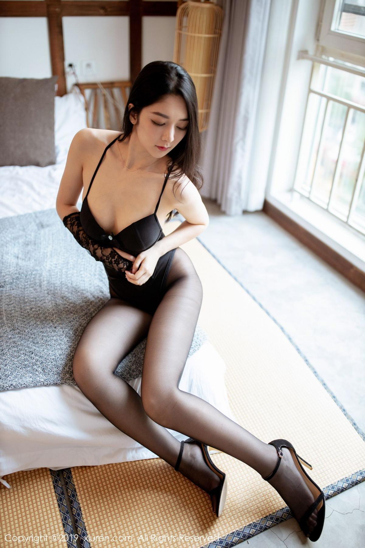 [XiuRen] Vol.1808 Di Yi 18P, Black Silk, Di Yi, Underwear, Xiuren