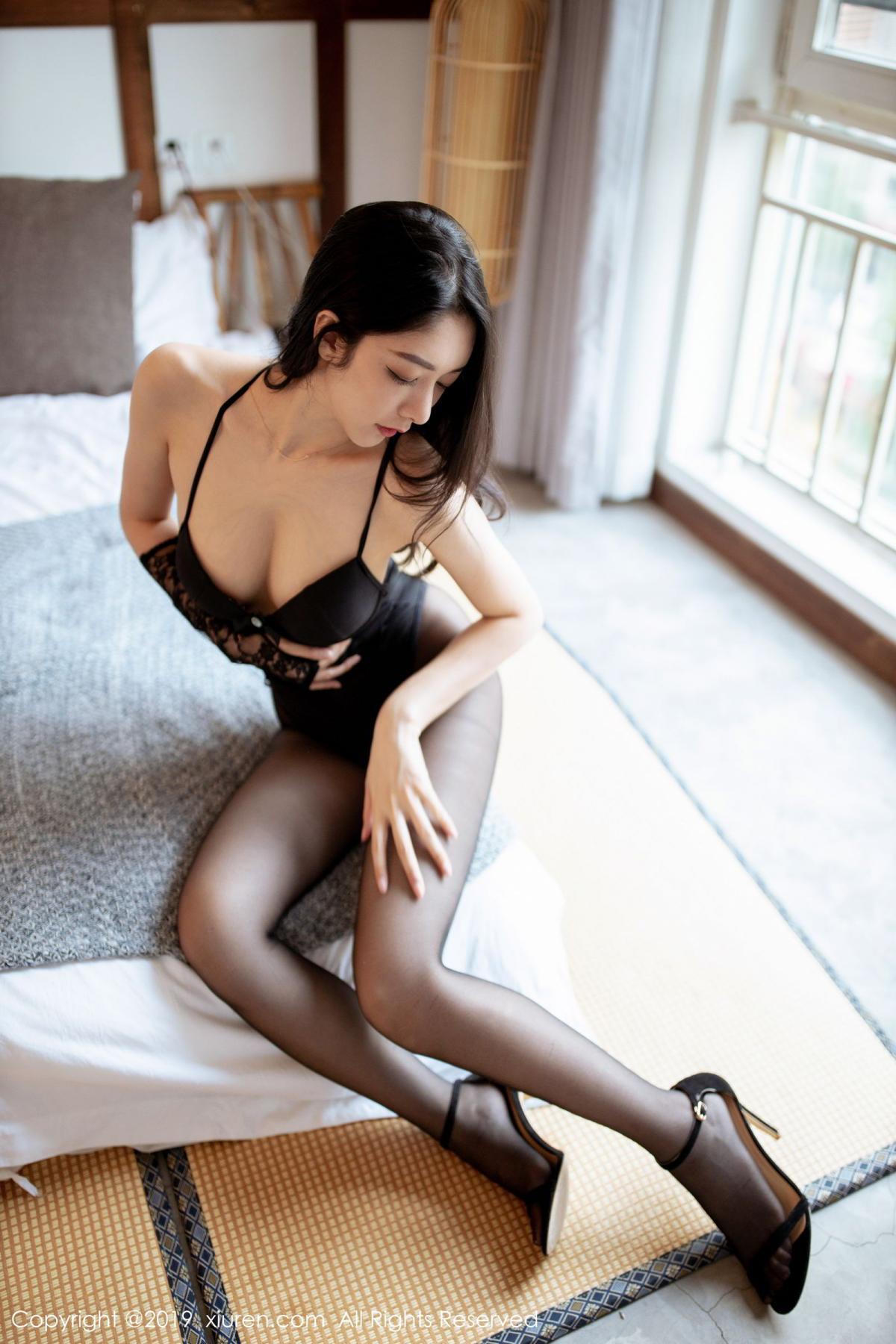 [XiuRen] Vol.1808 Di Yi 19P, Black Silk, Di Yi, Underwear, Xiuren