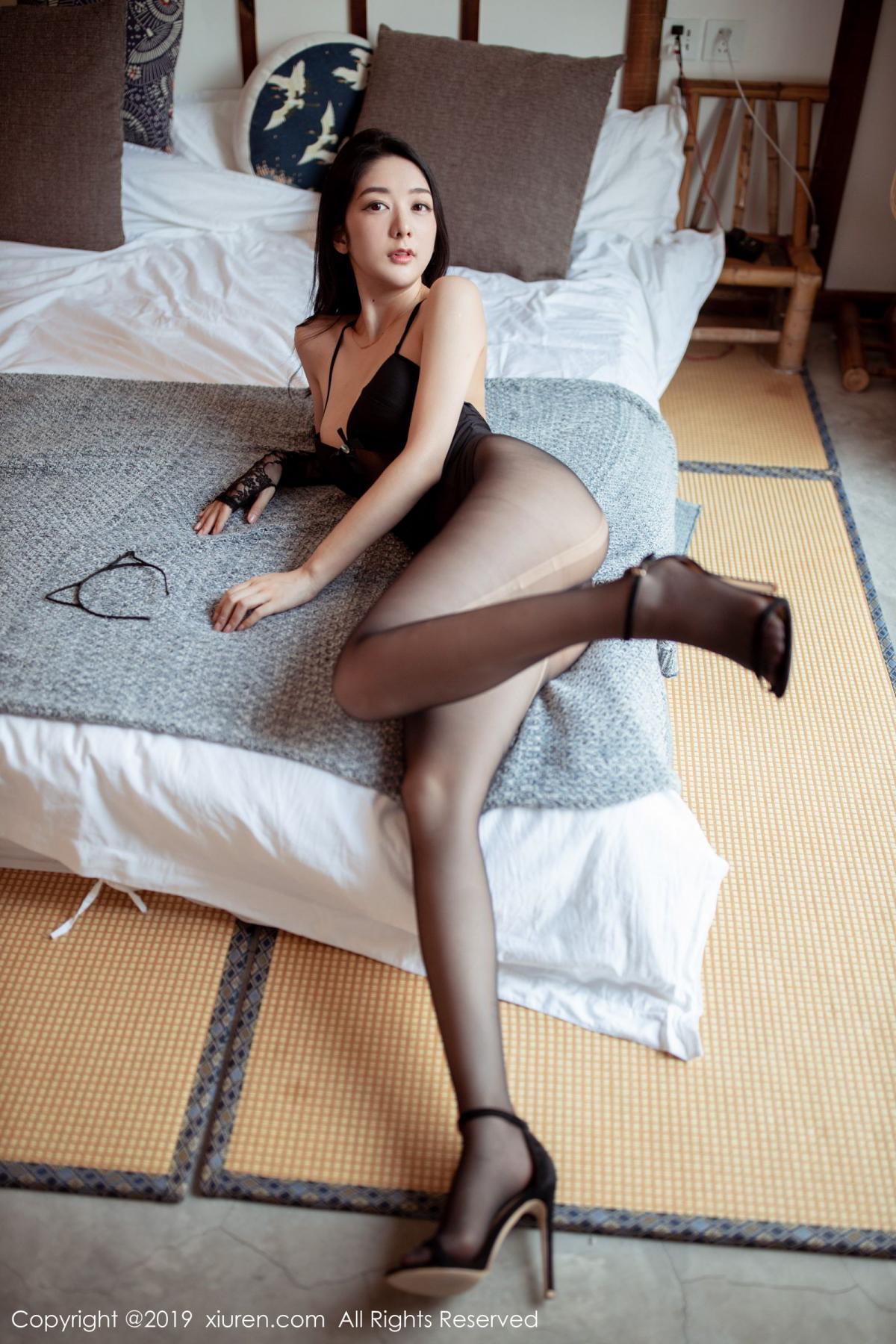 [XiuRen] Vol.1808 Di Yi 1P, Black Silk, Di Yi, Underwear, Xiuren