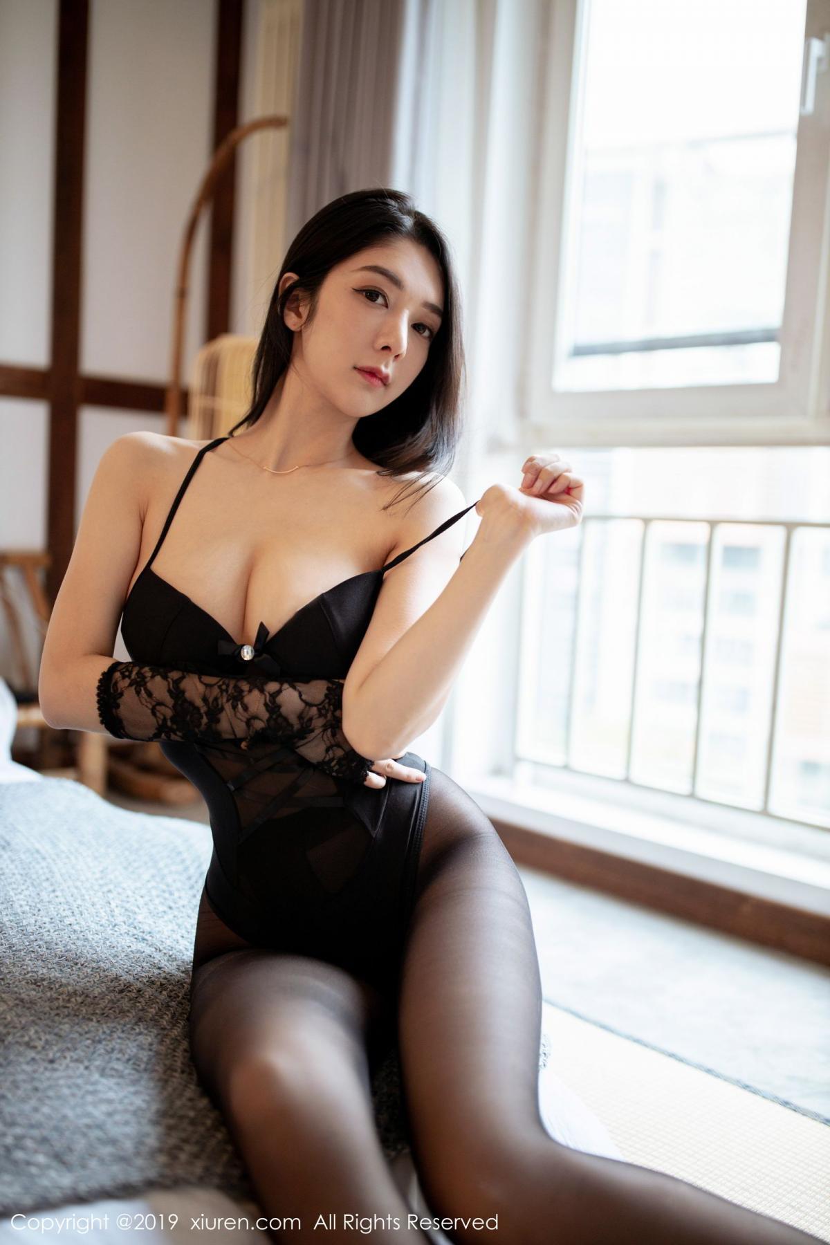 [XiuRen] Vol.1808 Di Yi 21P, Black Silk, Di Yi, Underwear, Xiuren