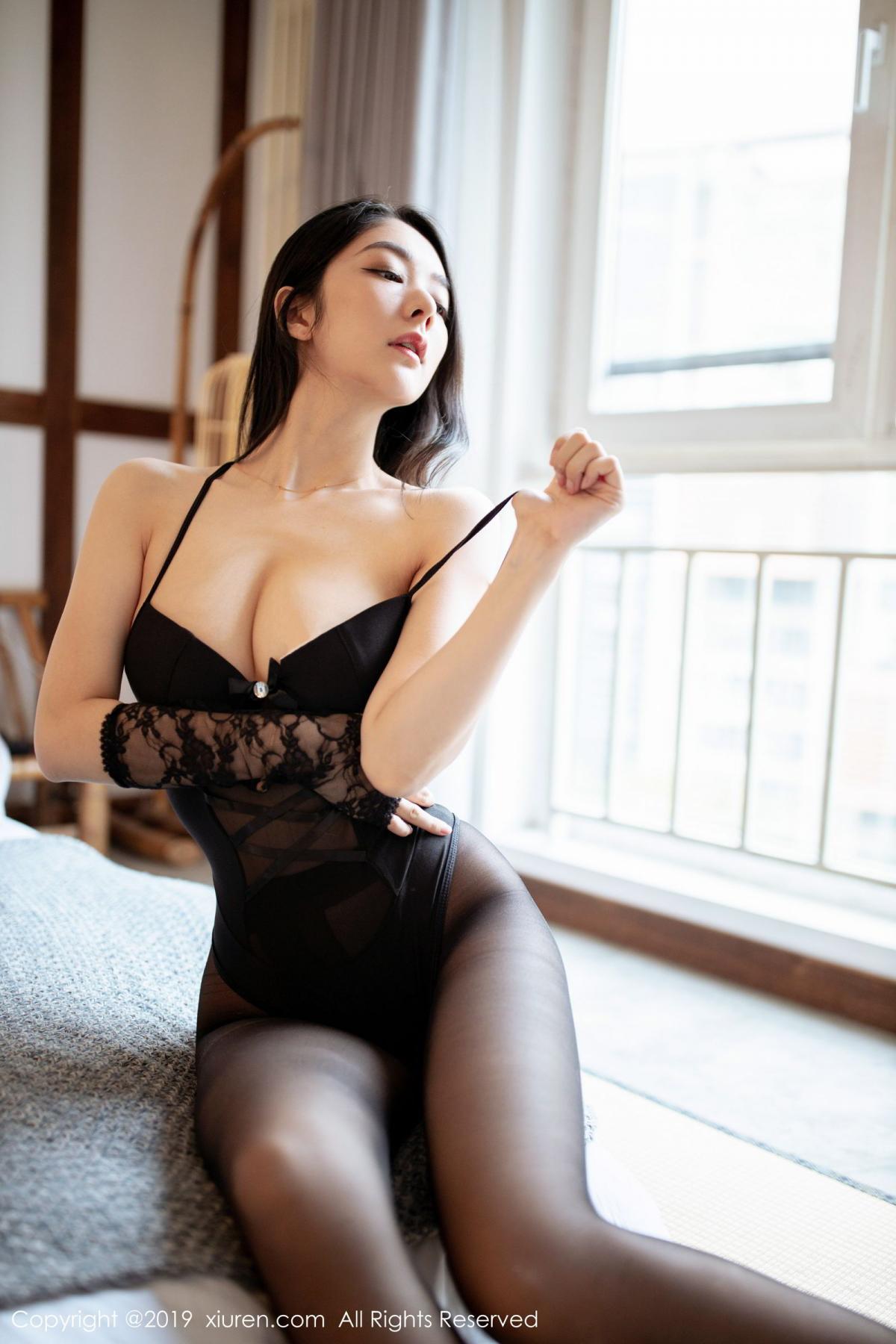 [XiuRen] Vol.1808 Di Yi 22P, Black Silk, Di Yi, Underwear, Xiuren