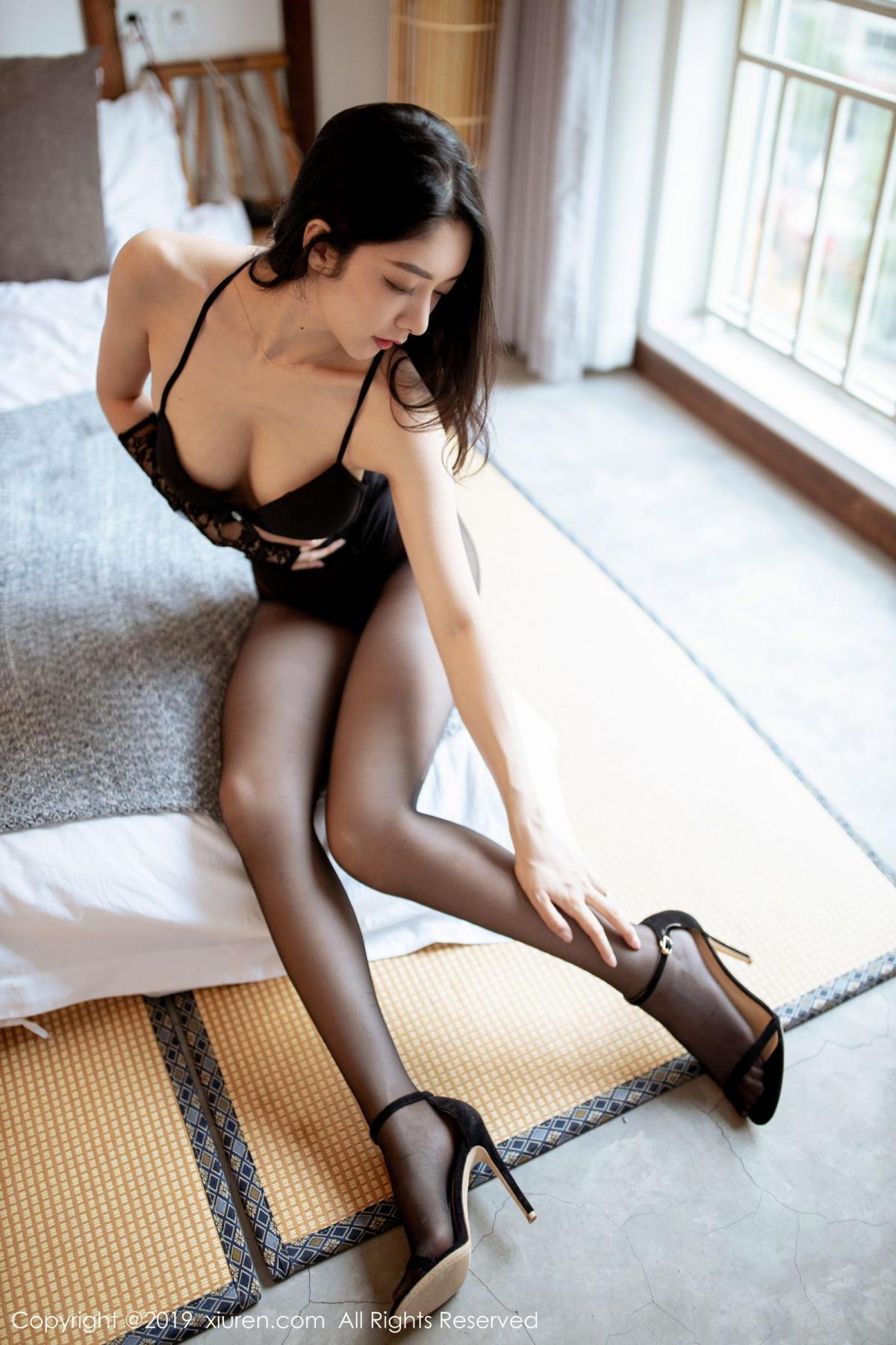 [XiuRen] Vol.1808 Di Yi 23P, Black Silk, Di Yi, Underwear, Xiuren