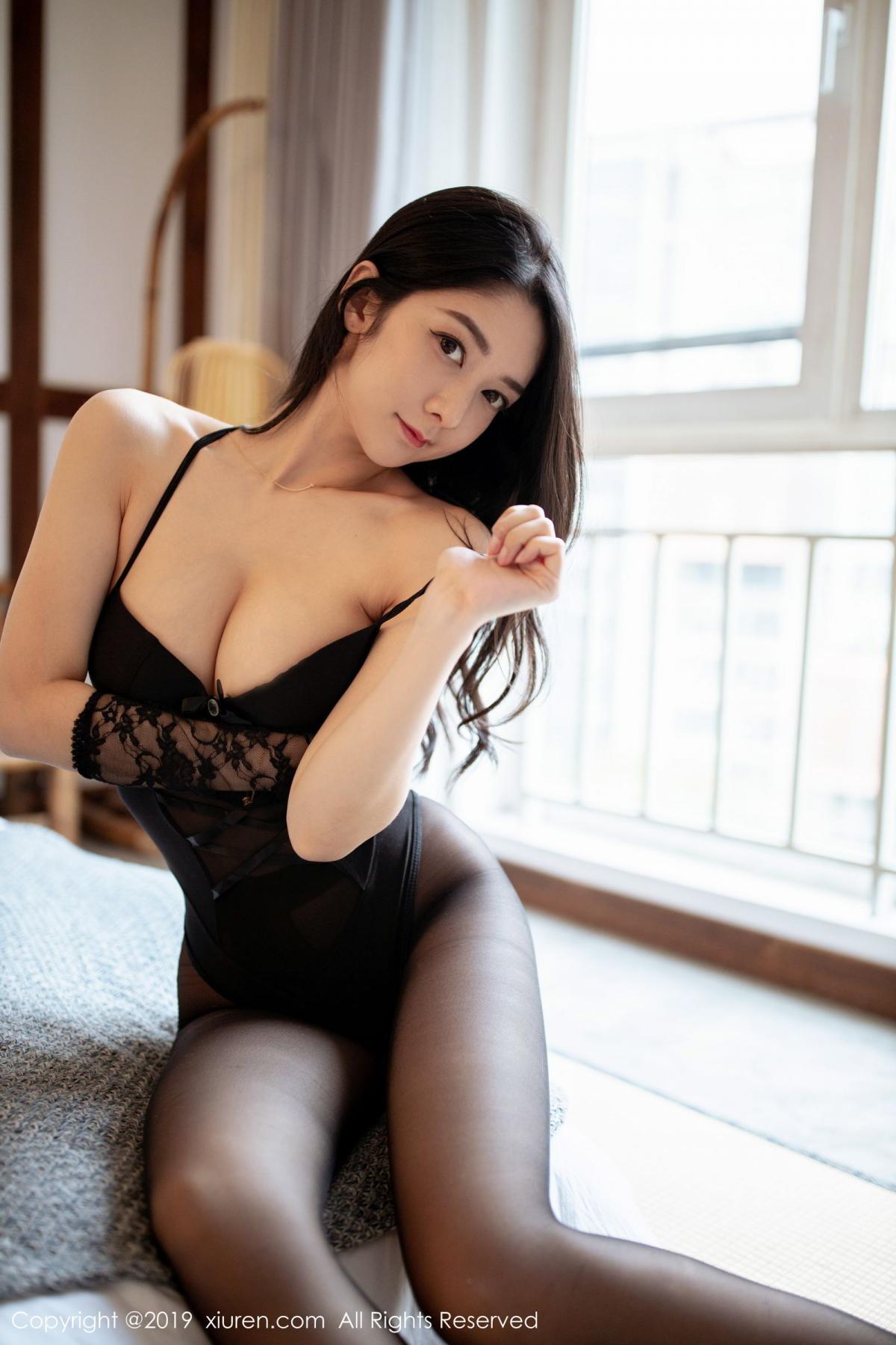 [XiuRen] Vol.1808 Di Yi 24P, Black Silk, Di Yi, Underwear, Xiuren