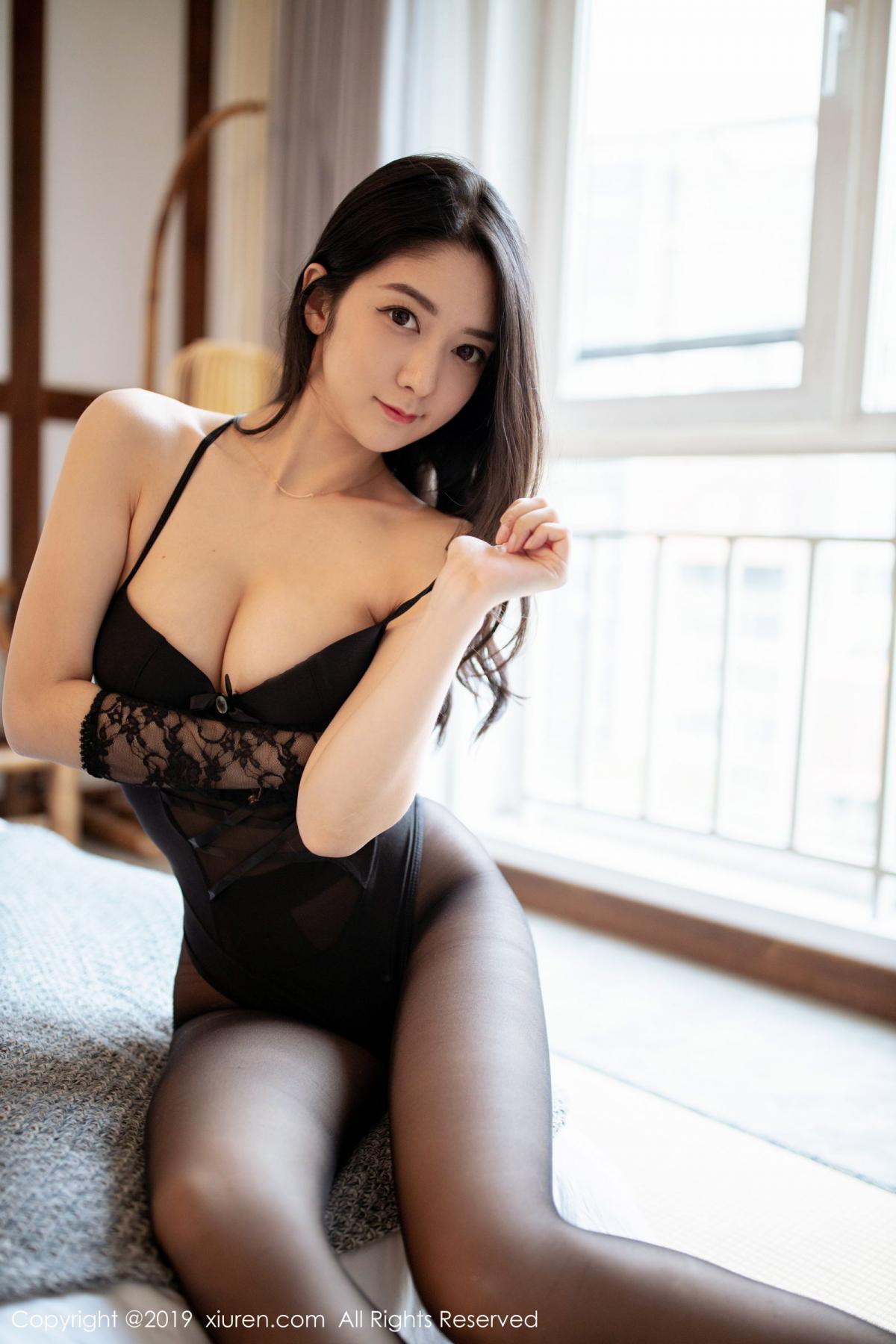 [XiuRen] Vol.1808 Di Yi 25P, Black Silk, Di Yi, Underwear, Xiuren