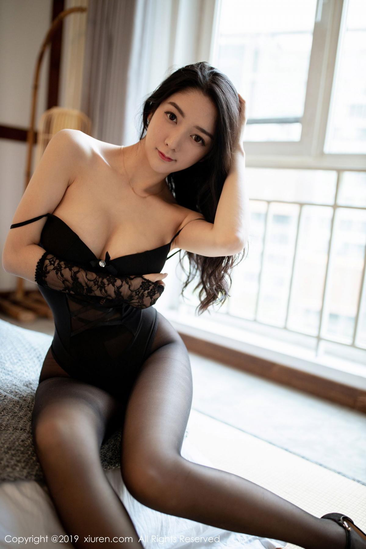 [XiuRen] Vol.1808 Di Yi 27P, Black Silk, Di Yi, Underwear, Xiuren
