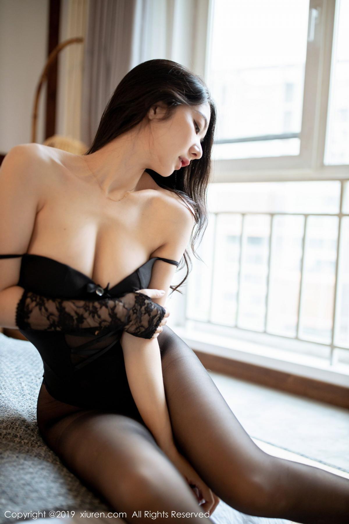 [XiuRen] Vol.1808 Di Yi 29P, Black Silk, Di Yi, Underwear, Xiuren