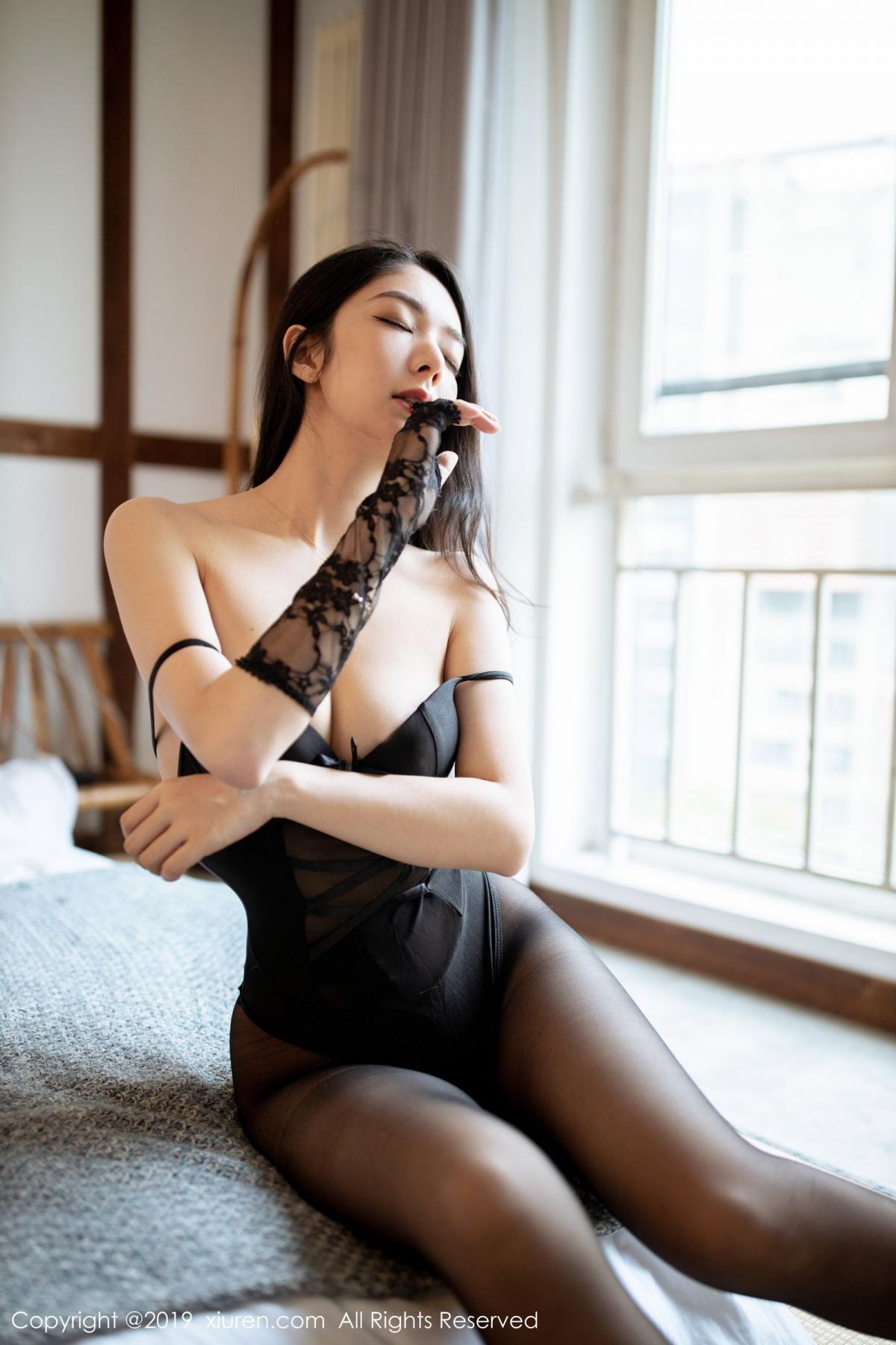 [XiuRen] Vol.1808 Di Yi 30P, Black Silk, Di Yi, Underwear, Xiuren