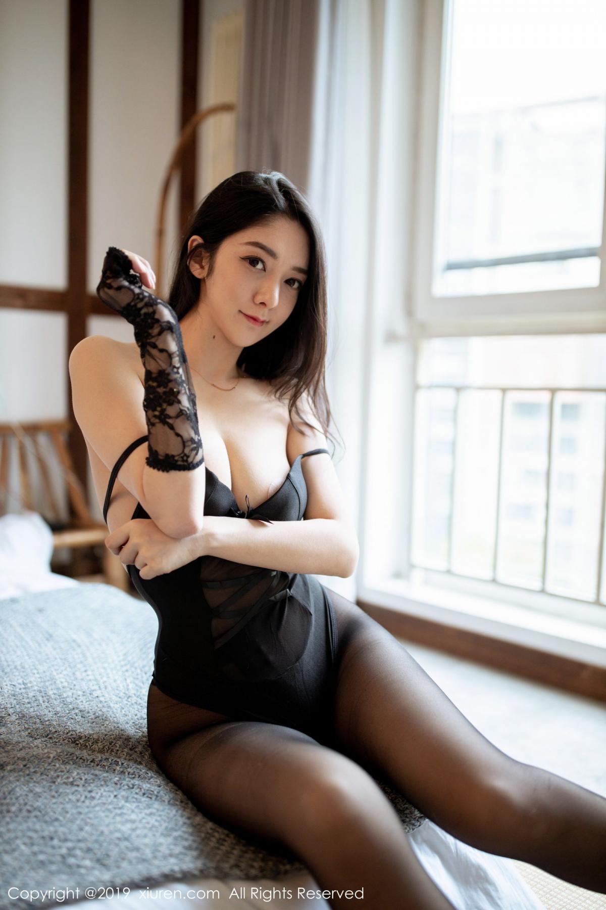 [XiuRen] Vol.1808 Di Yi 31P, Black Silk, Di Yi, Underwear, Xiuren