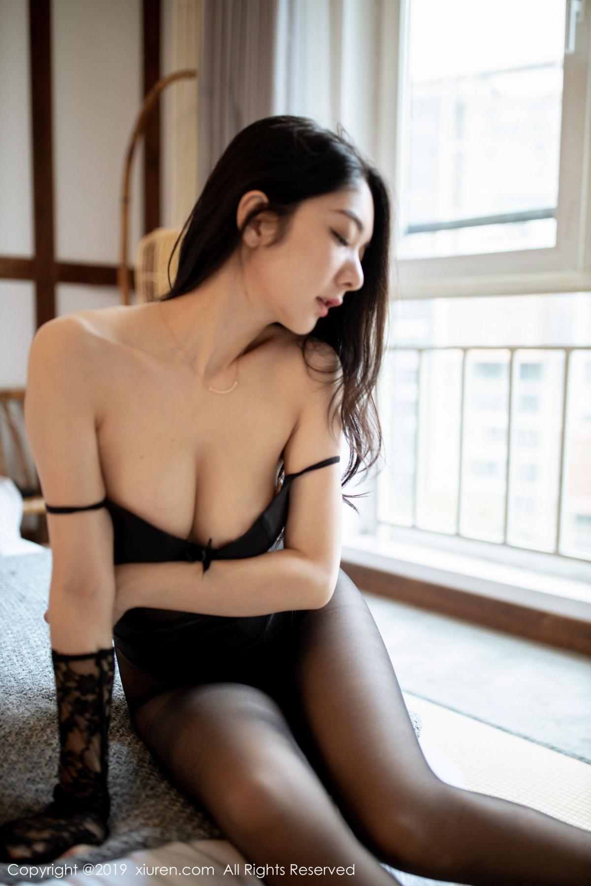 [XiuRen] Vol.1808 Di Yi 32P, Black Silk, Di Yi, Underwear, Xiuren