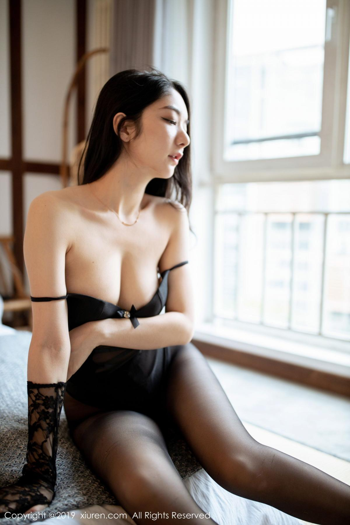 [XiuRen] Vol.1808 Di Yi 33P, Black Silk, Di Yi, Underwear, Xiuren