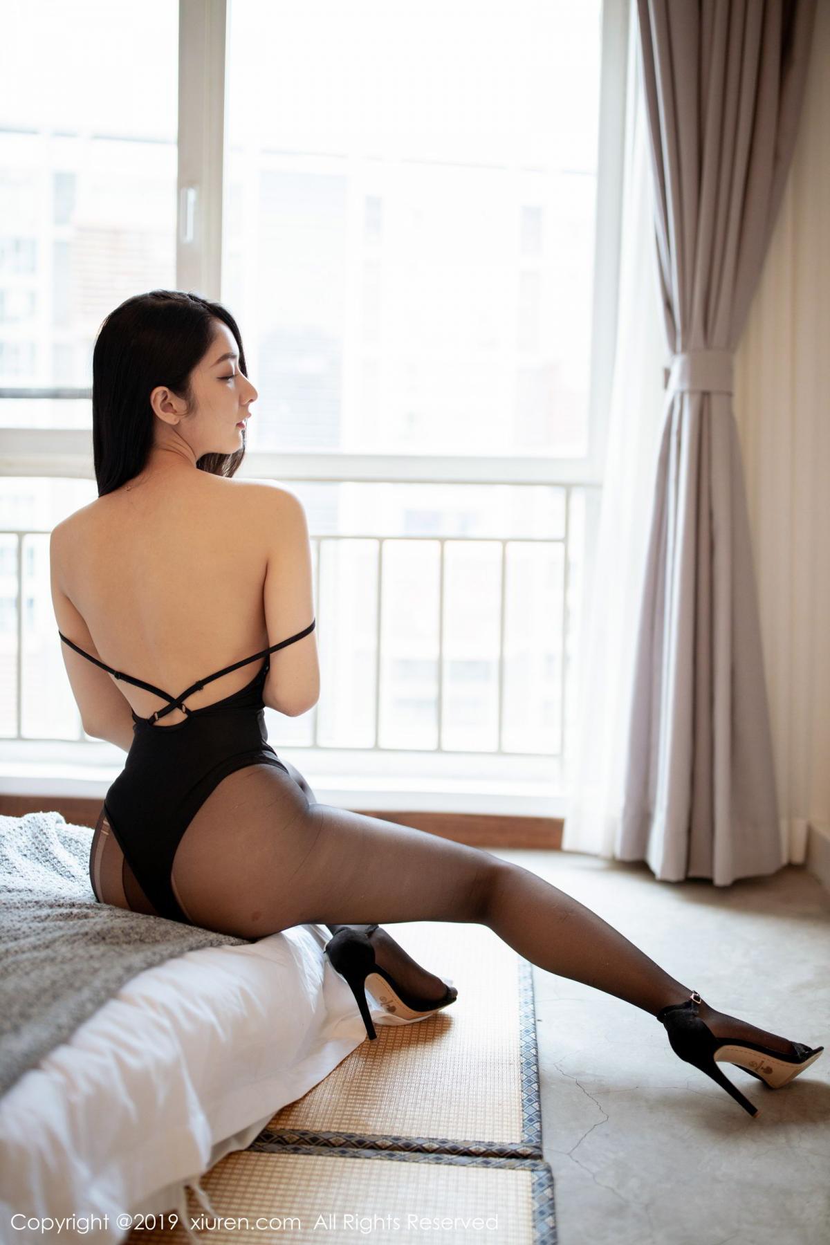 [XiuRen] Vol.1808 Di Yi 35P, Black Silk, Di Yi, Underwear, Xiuren