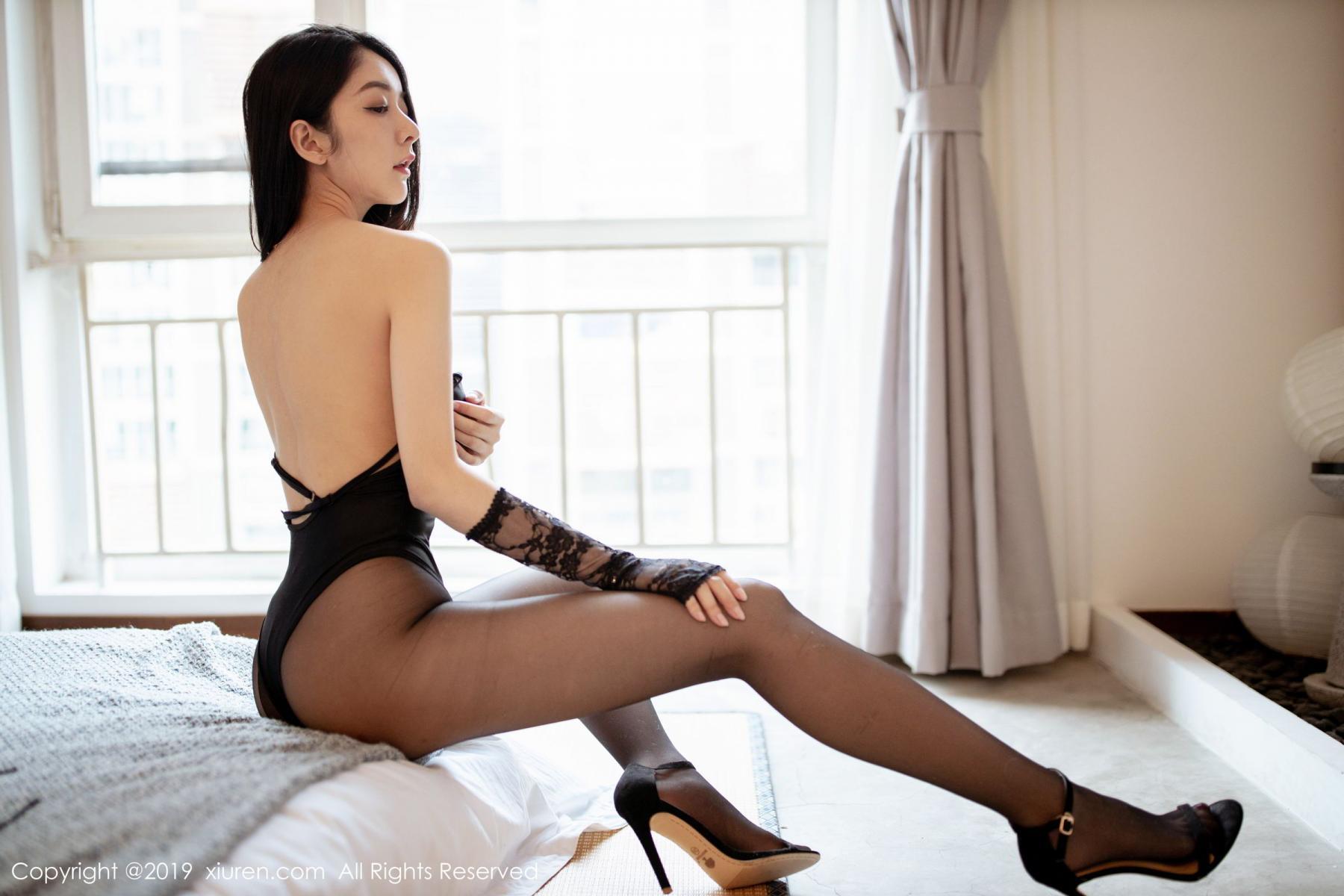 [XiuRen] Vol.1808 Di Yi 36P, Black Silk, Di Yi, Underwear, Xiuren