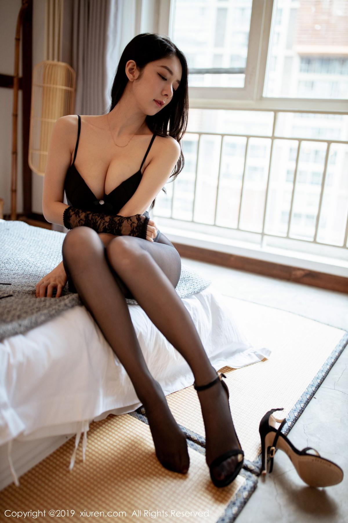 [XiuRen] Vol.1808 Di Yi 38P, Black Silk, Di Yi, Underwear, Xiuren