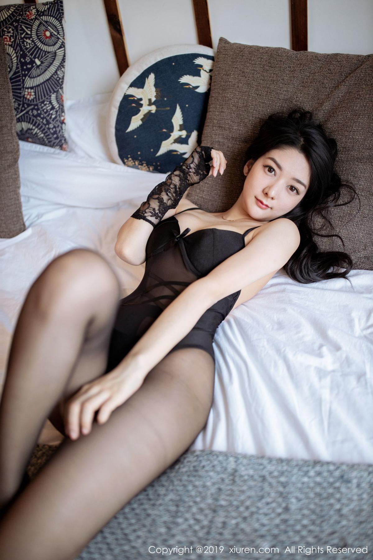 [XiuRen] Vol.1808 Di Yi 39P, Black Silk, Di Yi, Underwear, Xiuren