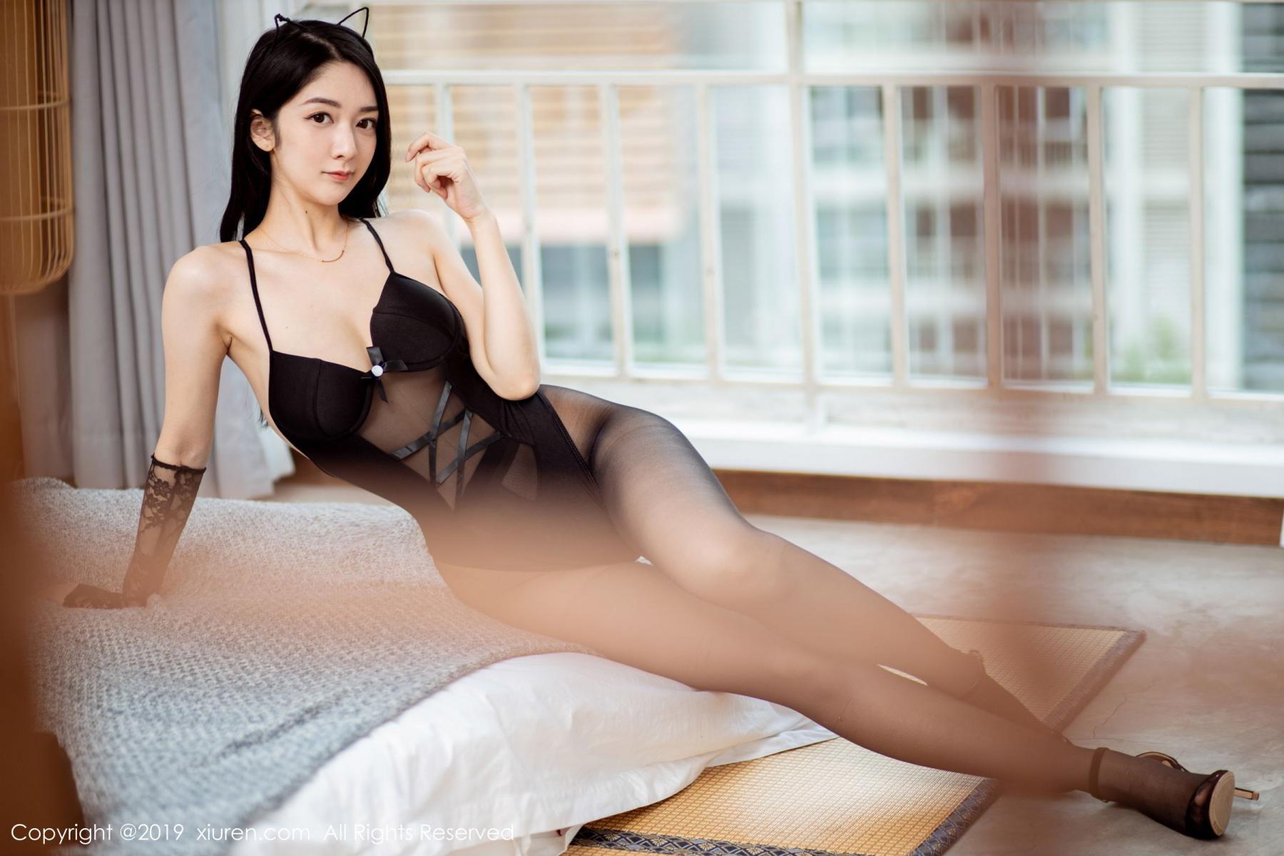 [XiuRen] Vol.1808 Di Yi 3P, Black Silk, Di Yi, Underwear, Xiuren