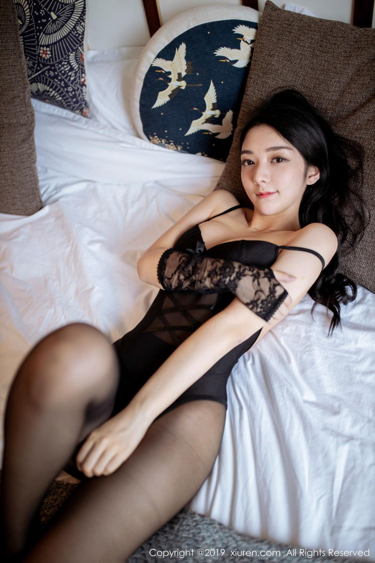 [XiuRen] Vol.1808 Di Yi 40P, Black Silk, Di Yi, Underwear, Xiuren