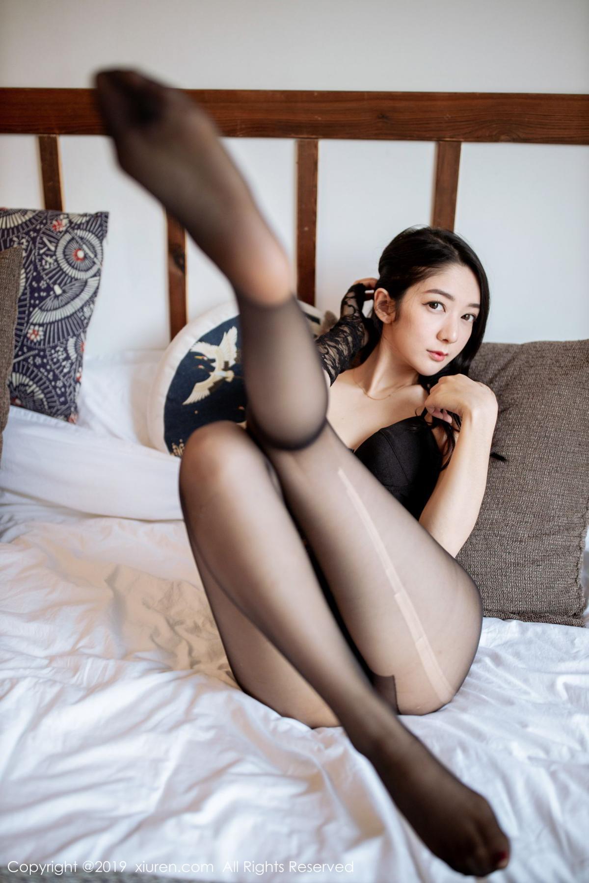 [XiuRen] Vol.1808 Di Yi 45P, Black Silk, Di Yi, Underwear, Xiuren