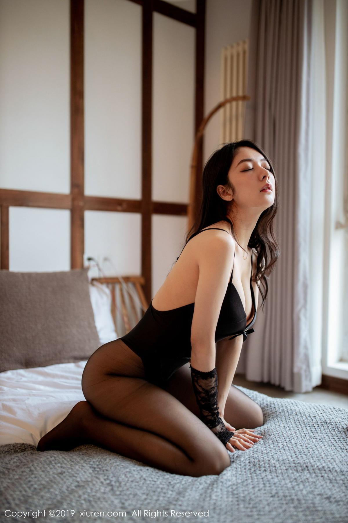 [XiuRen] Vol.1808 Di Yi 46P, Black Silk, Di Yi, Underwear, Xiuren