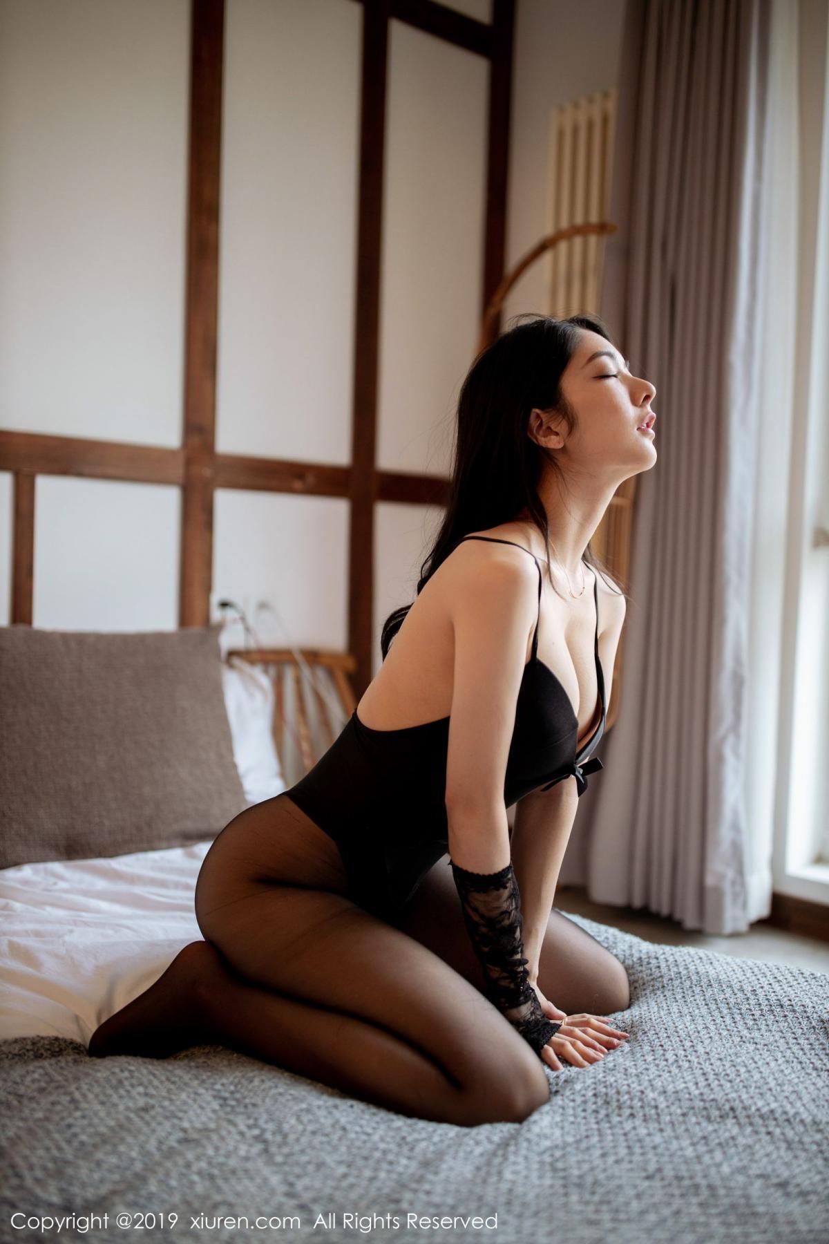 [XiuRen] Vol.1808 Di Yi 47P, Black Silk, Di Yi, Underwear, Xiuren