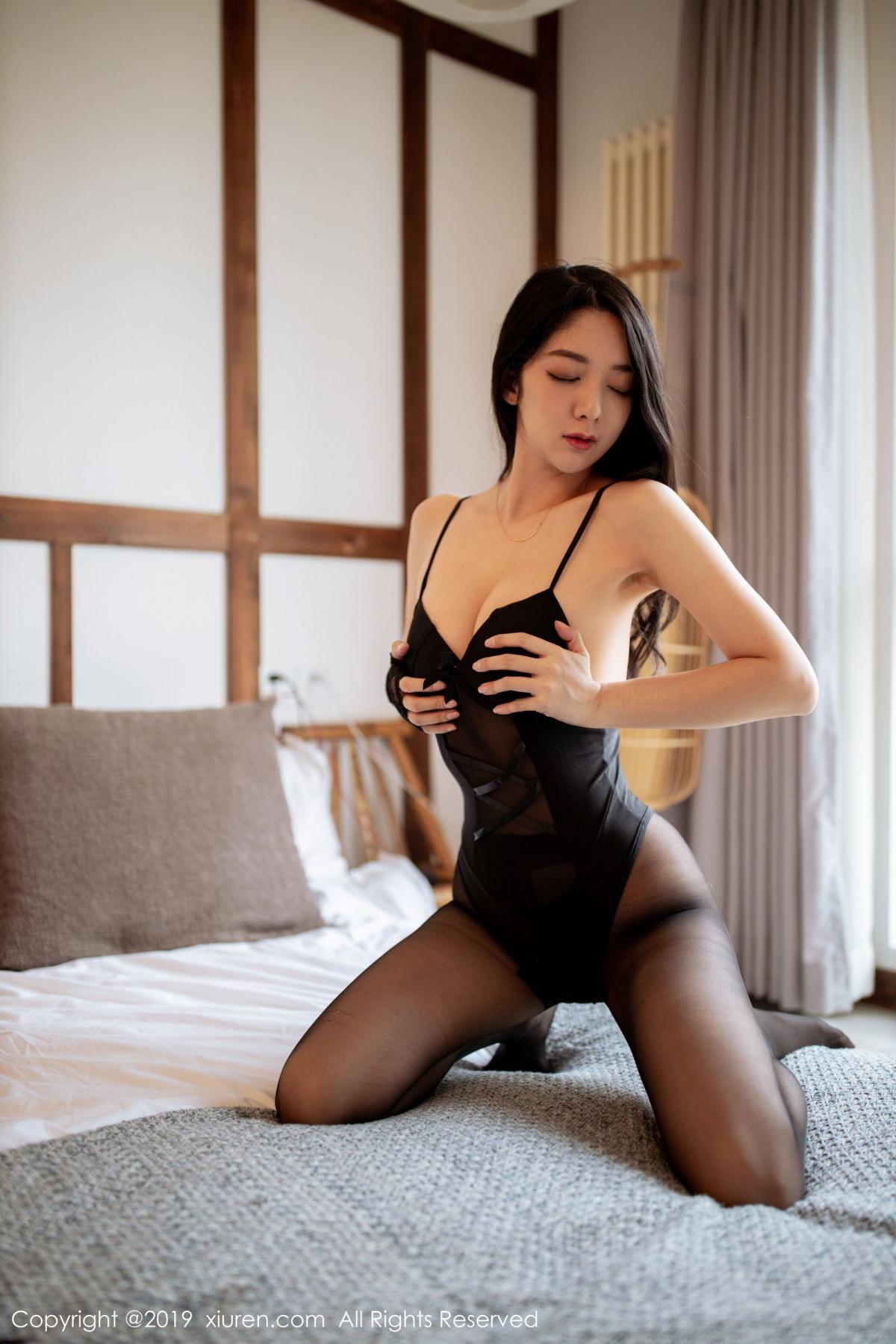 [XiuRen] Vol.1808 Di Yi 48P, Black Silk, Di Yi, Underwear, Xiuren