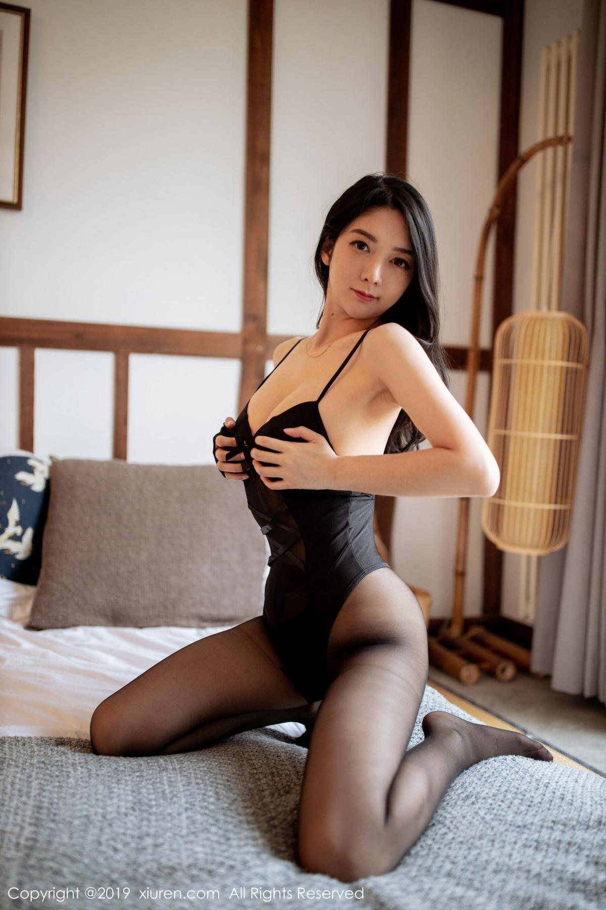 [XiuRen] Vol.1808 Di Yi 49P, Black Silk, Di Yi, Underwear, Xiuren